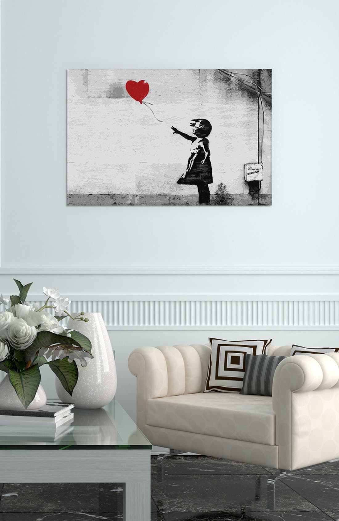 'Girl with Balloon' Giclée Print Canvas Art,                             Alternate thumbnail 2, color,                             020