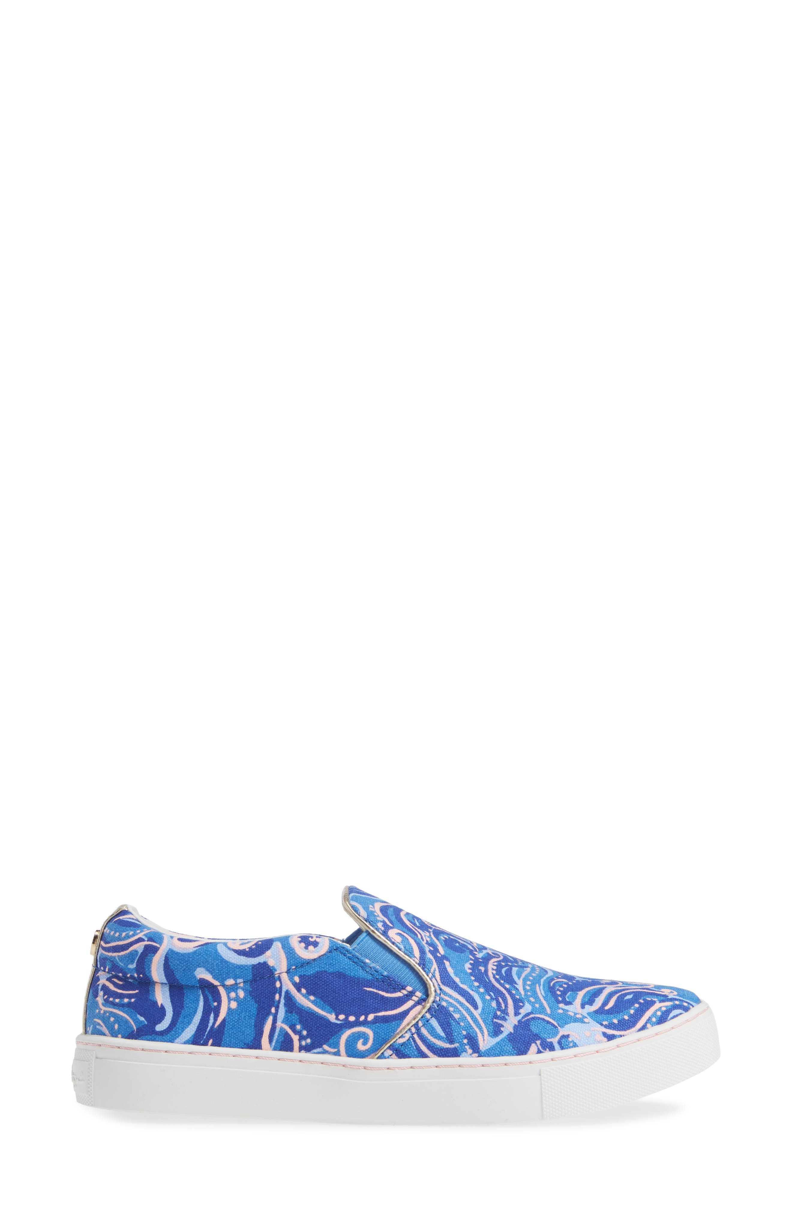 Julie Sneaker,                             Alternate thumbnail 3, color,                             COASTAL BLUE