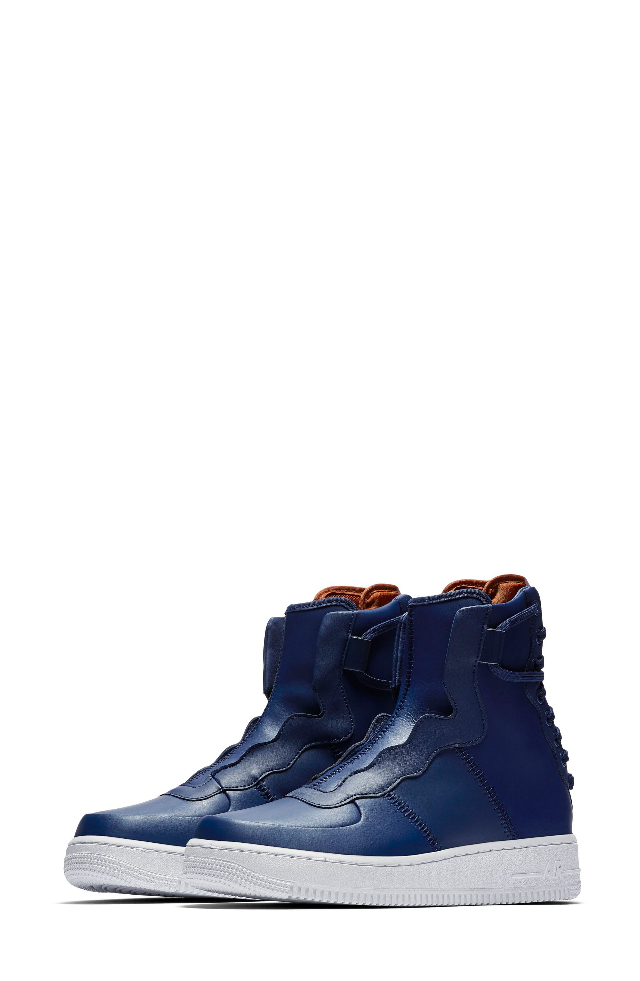 Air Force 1 Rebel XX High Top Sneaker,                         Main,                         color, BLUE VOID/ RUSSET/ WHITE/ BLUE