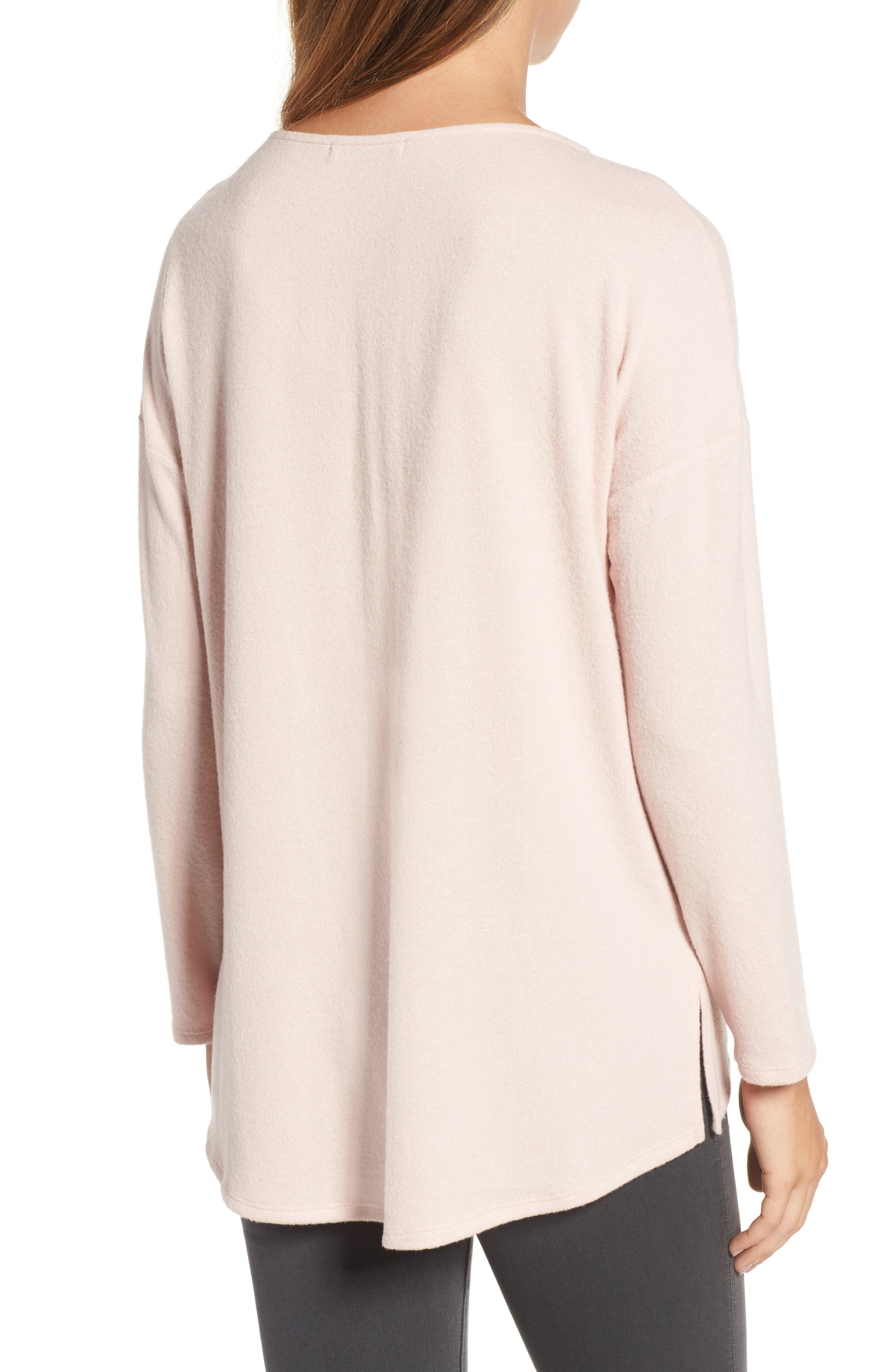 Cozy Ballet Neck High/Low Pullover,                             Alternate thumbnail 23, color,