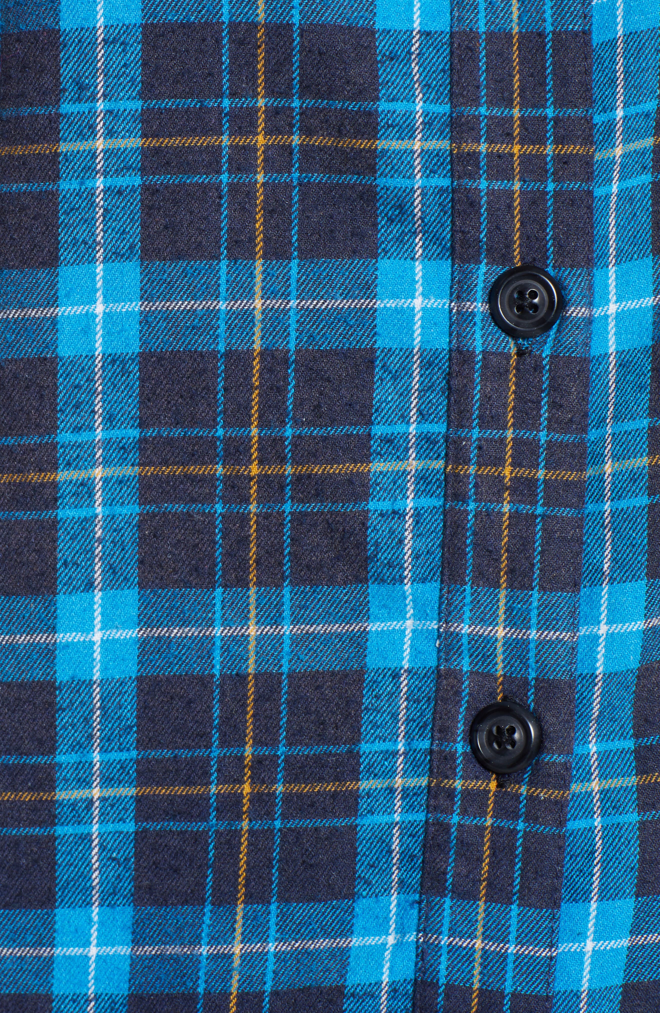 Back Tie Plaid Shirt,                             Alternate thumbnail 5, color,                             498