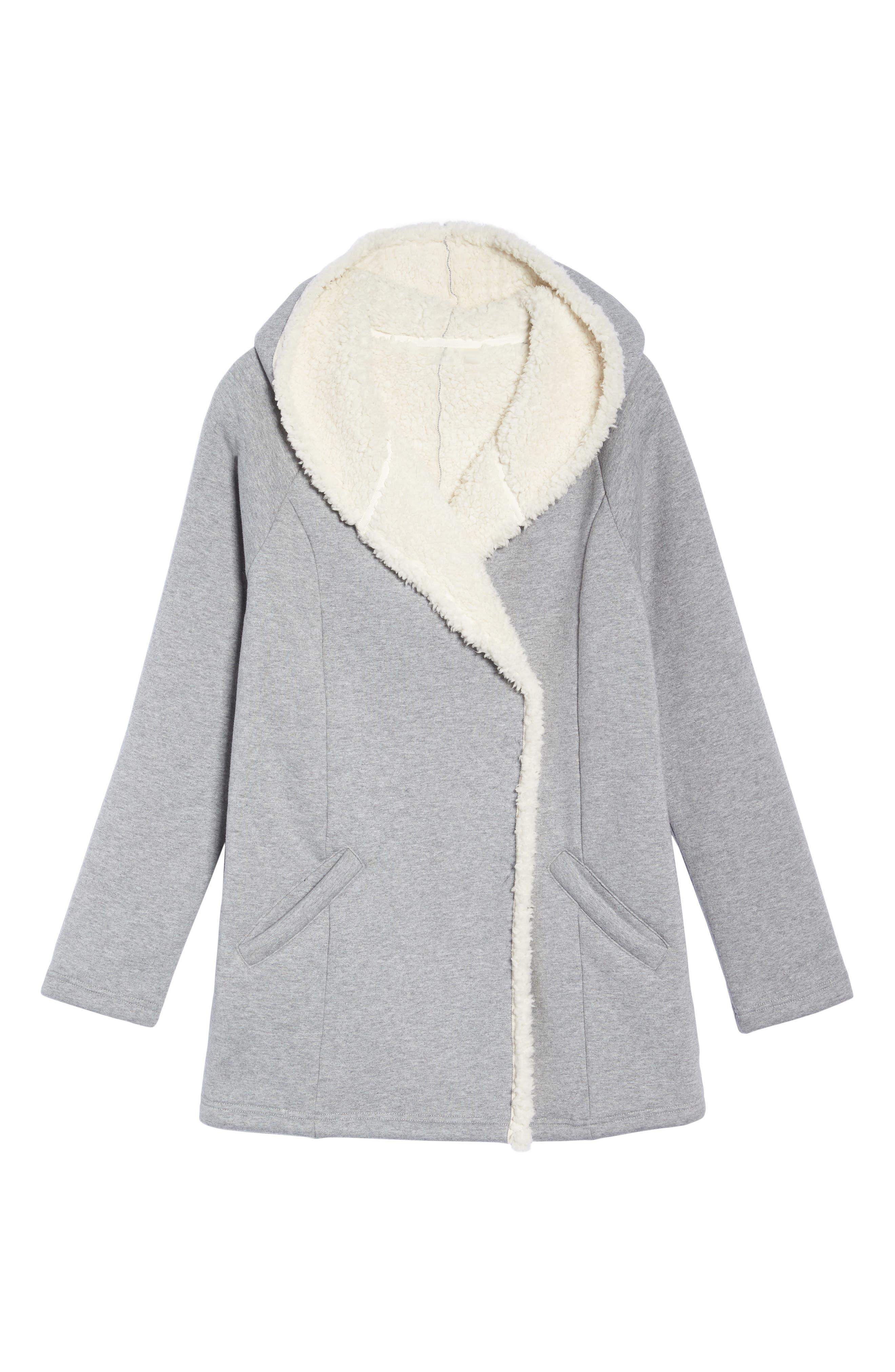 Chalet Fleece Lined Hooded Wrap,                             Alternate thumbnail 6, color,                             030