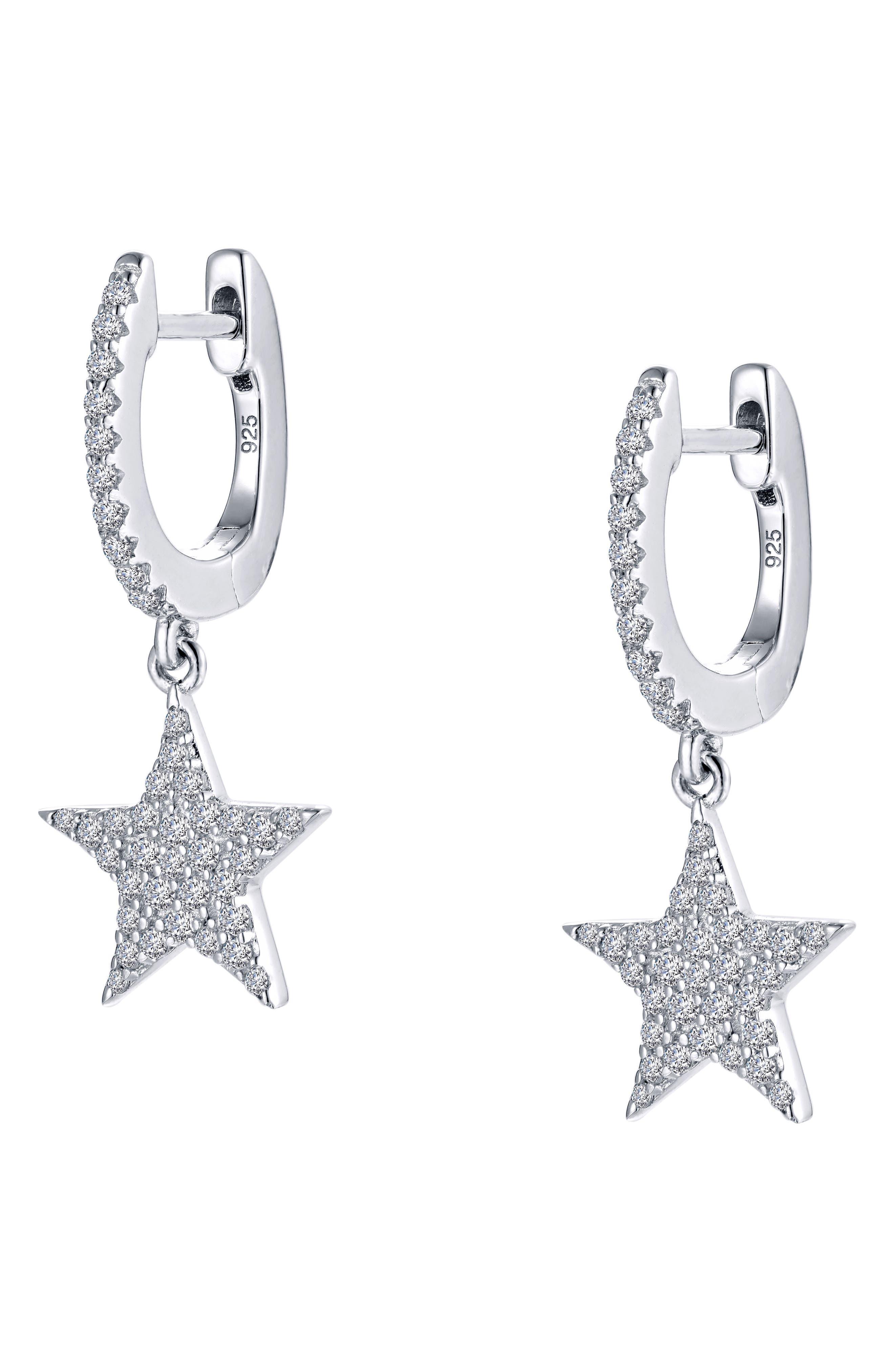 LAFONN Star Simulated Diamond Drop Earrings, Main, color, 040