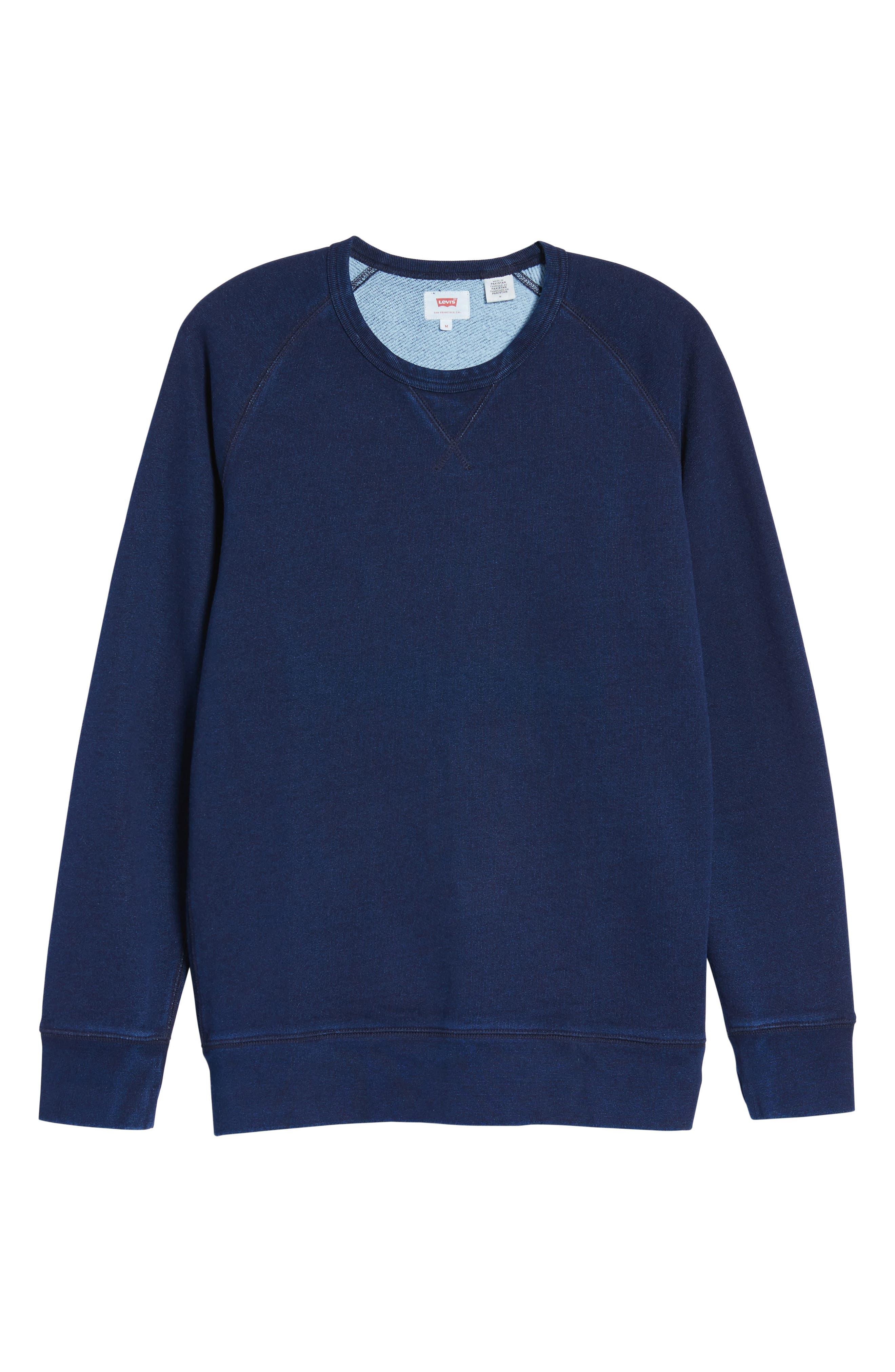Original Crewneck Sweater,                             Alternate thumbnail 6, color,