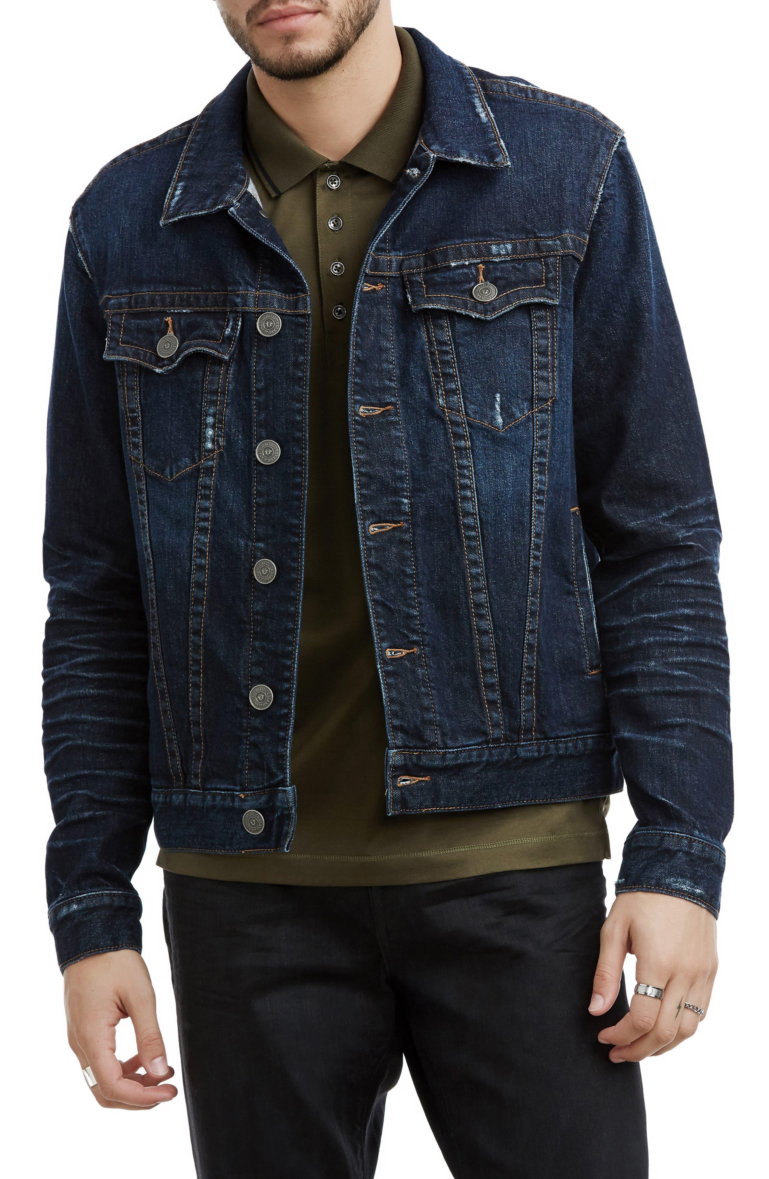 Danny Denim Jacket,                         Main,                         color, DARK TUNNEL