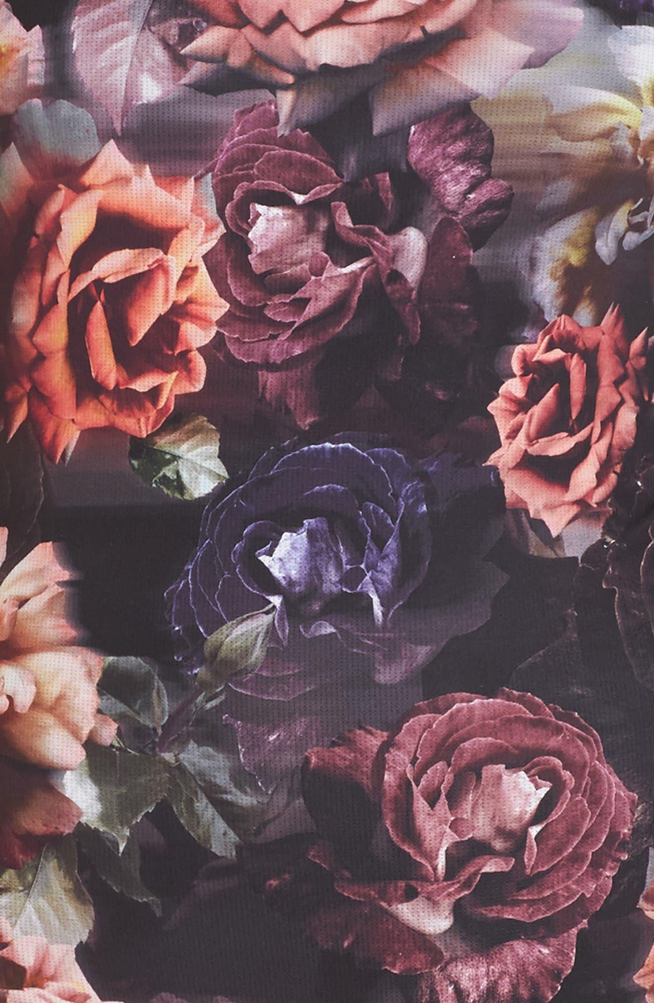 Dark Blooms Bodysuit,                             Alternate thumbnail 5, color,