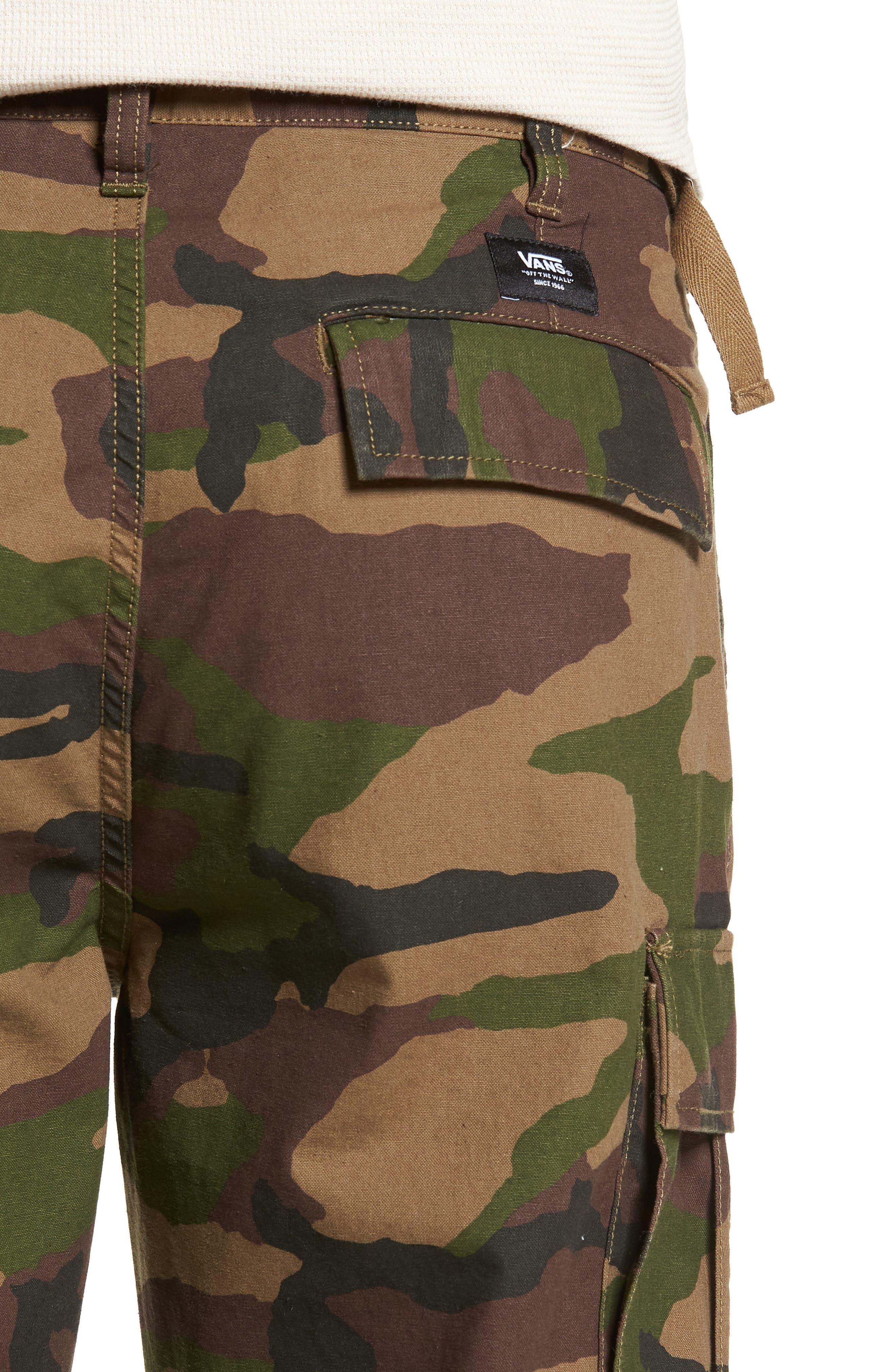 Draft Regular Fit Cargo Pants,                             Alternate thumbnail 4, color,                             CAMO