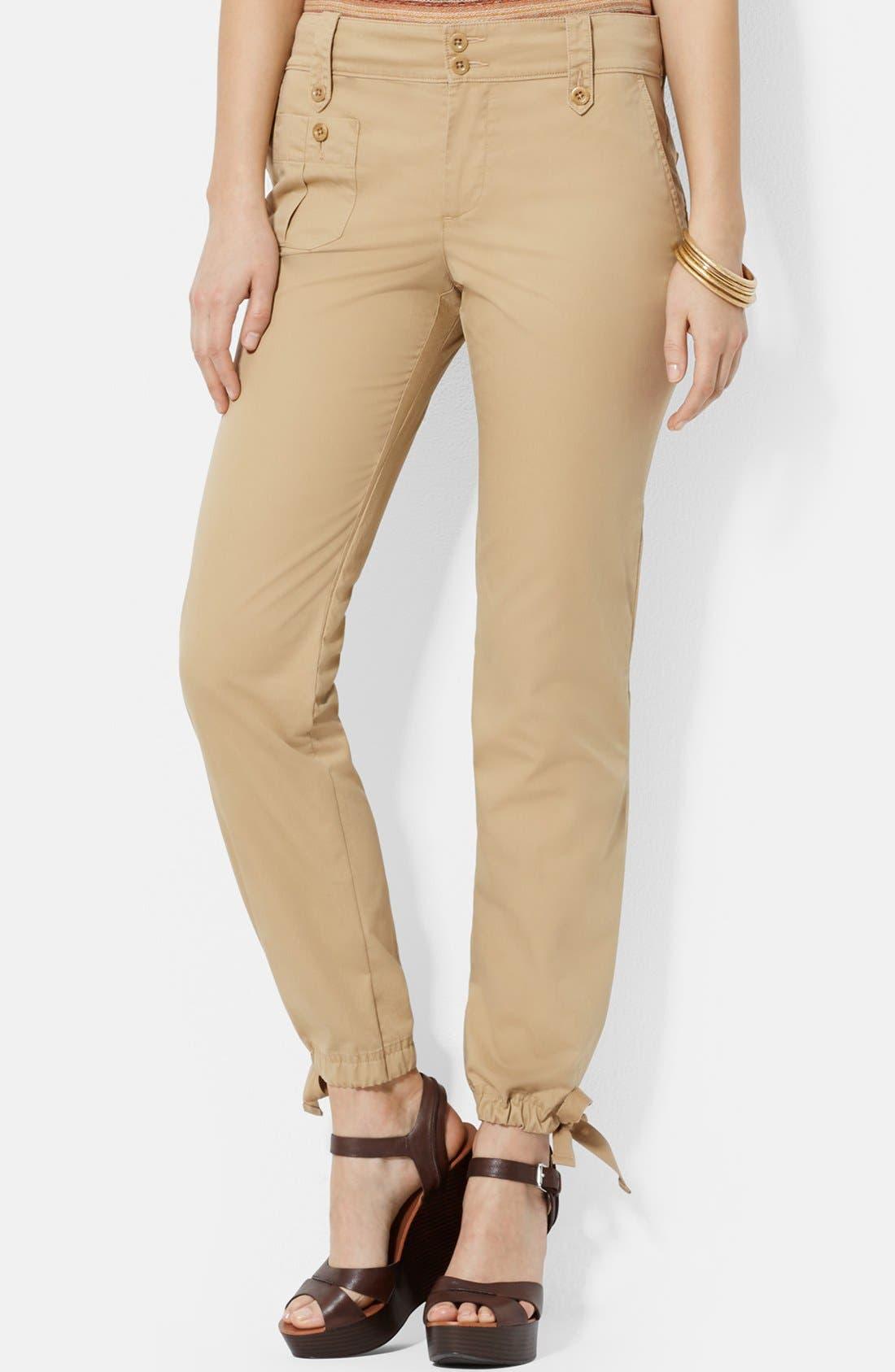 Cotton Drawstring Ankle Cargo Pants,                             Main thumbnail 1, color,                             265