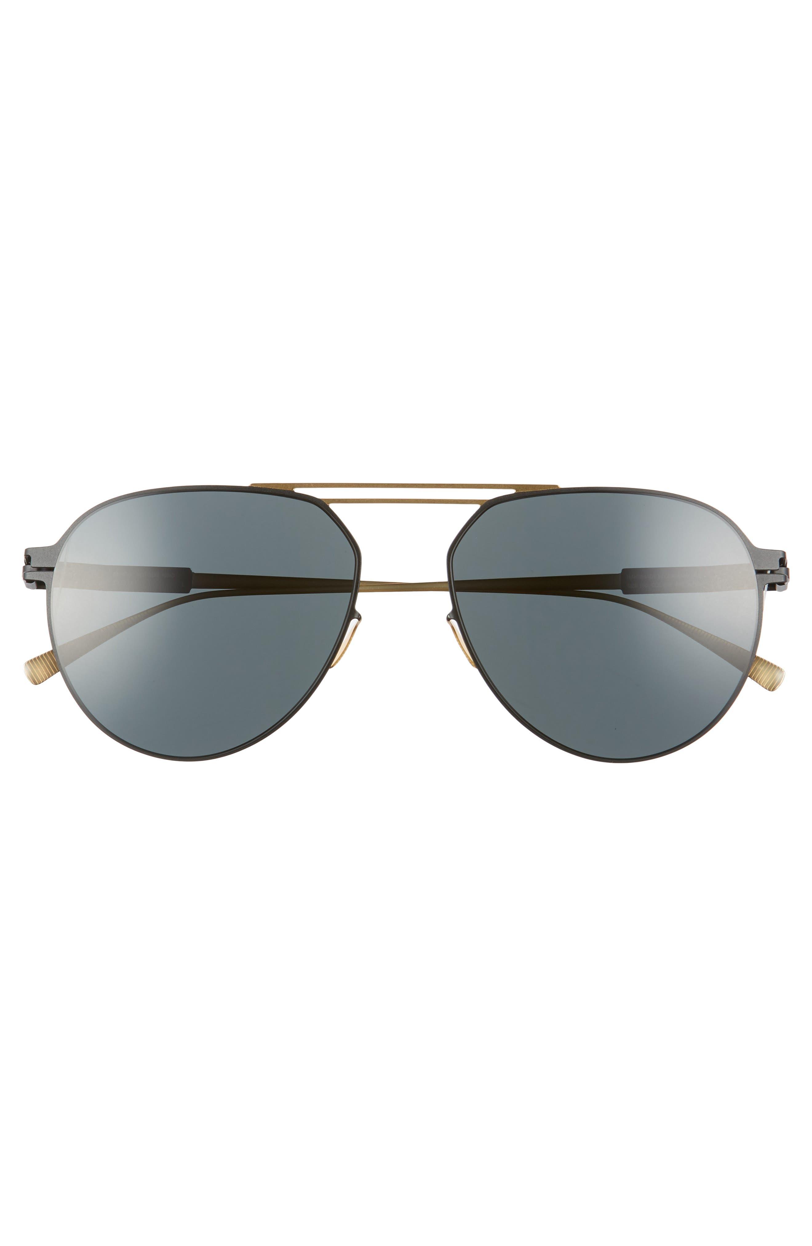 Nino 57mm Polarized Aviator Sunglasses,                             Alternate thumbnail 2, color,                             226