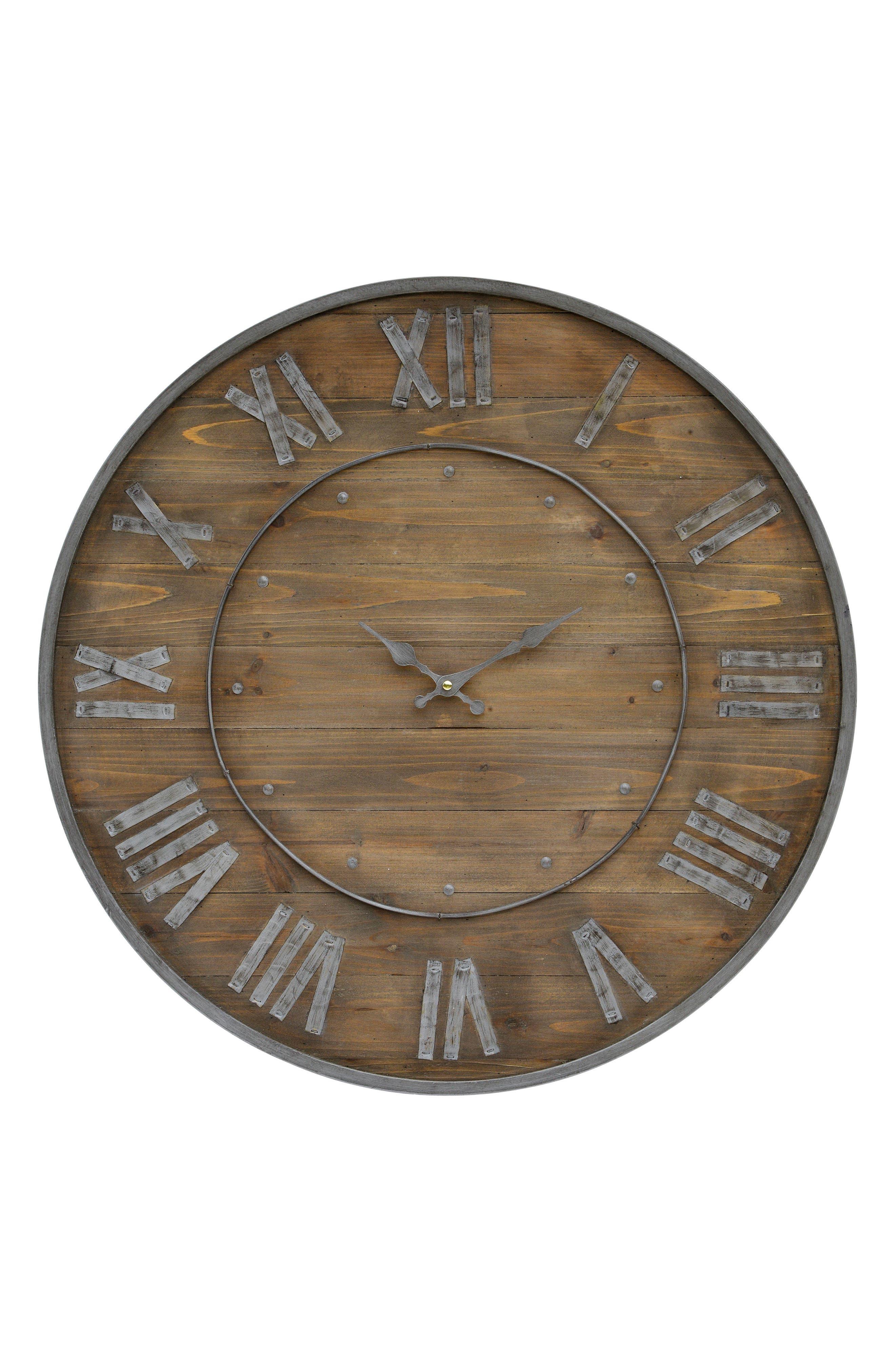 Wooden Wall Clock,                             Main thumbnail 1, color,                             200