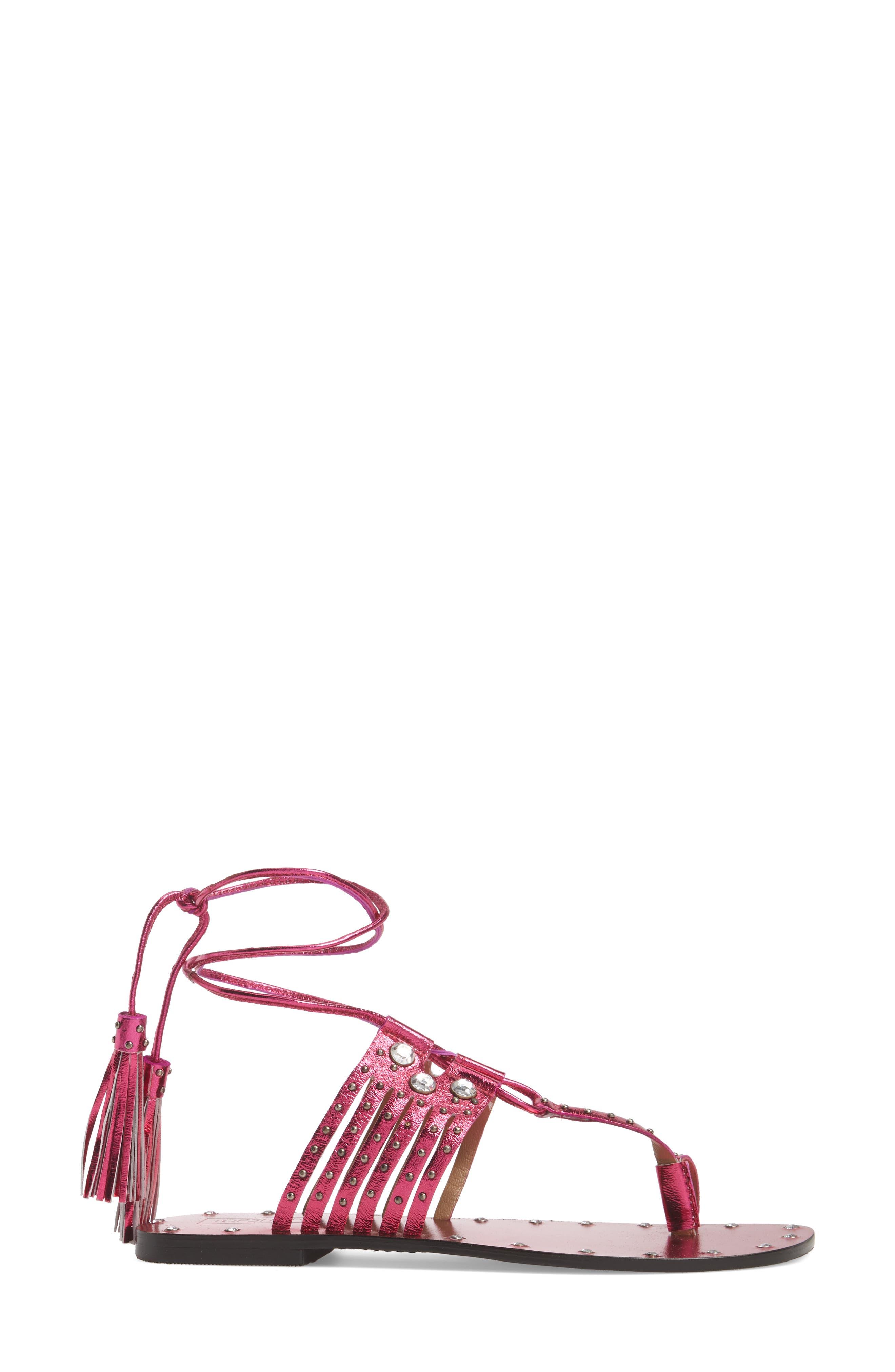 Fay Embellished Wraparound Sandal,                             Alternate thumbnail 9, color,