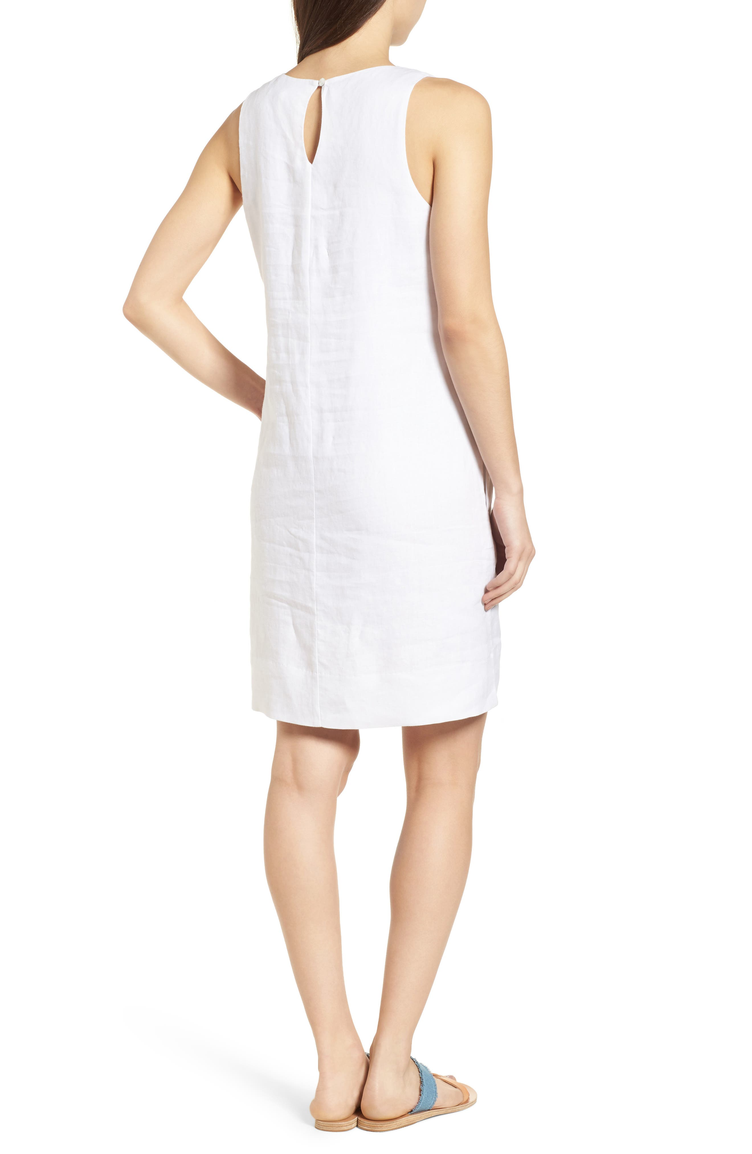 Cricue de Palm Shift Dress,                             Alternate thumbnail 2, color,                             WHITE