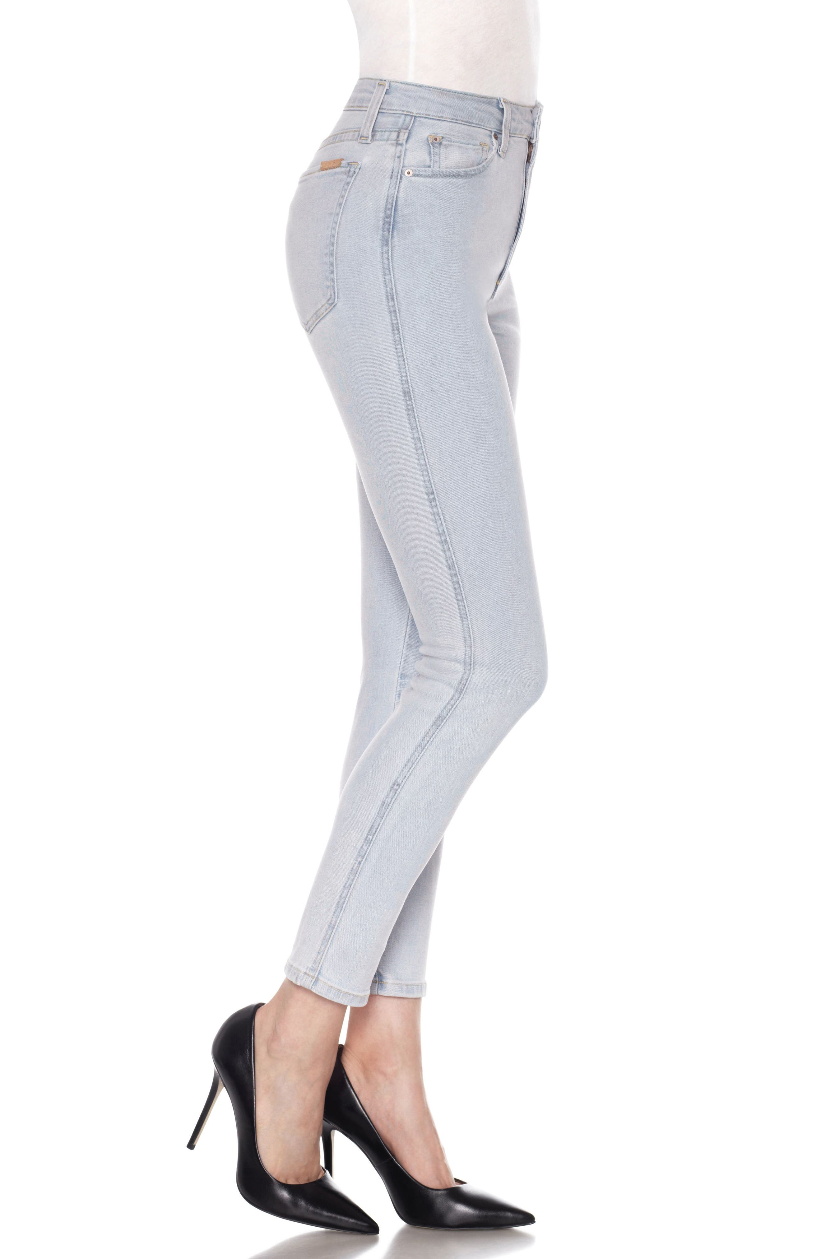 Flawless - Bella High Waist Ankle Skinny Jeans,                             Alternate thumbnail 3, color,                             415