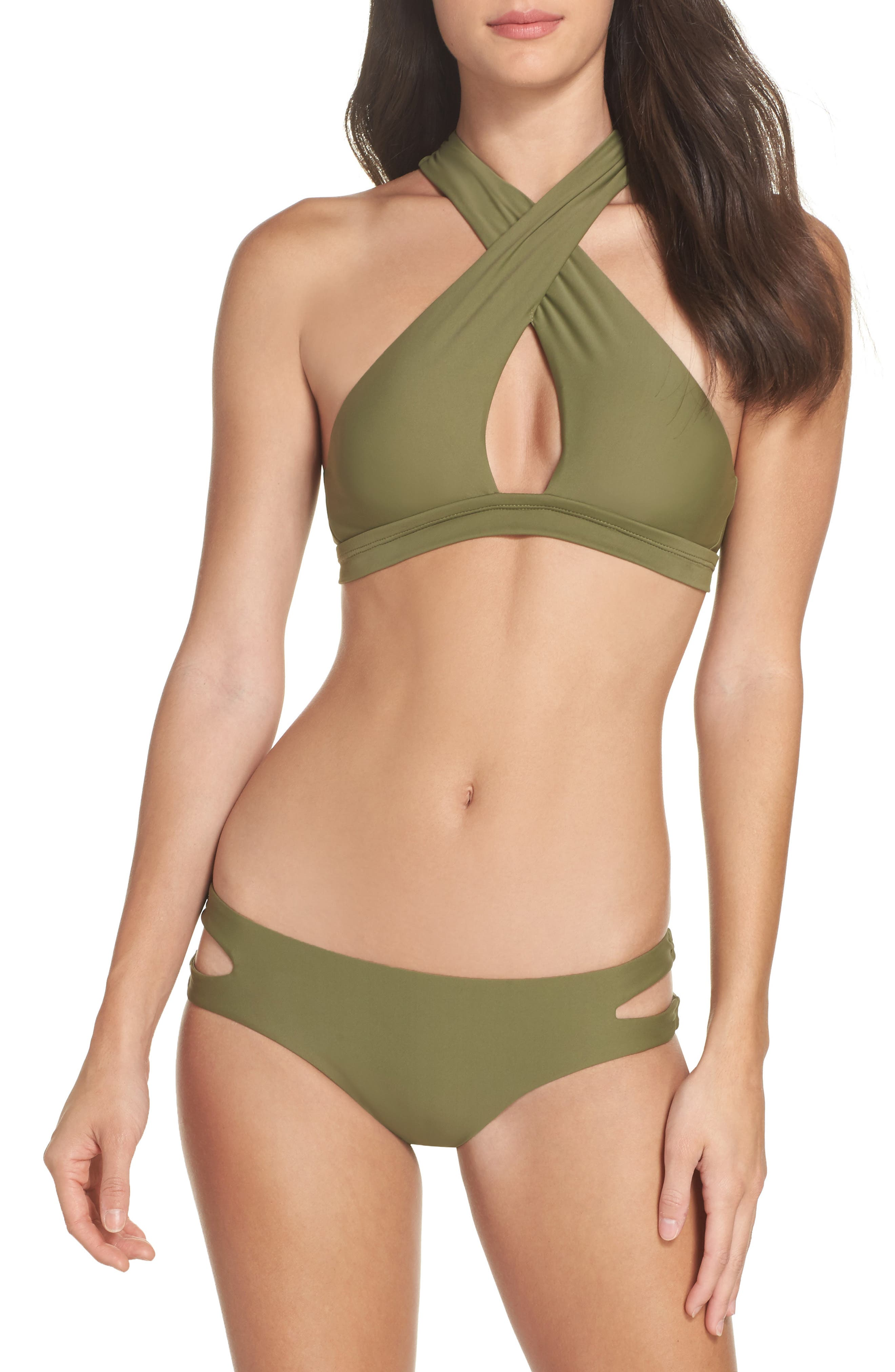 Cutout Hipster Bikini Bottoms,                             Alternate thumbnail 13, color,