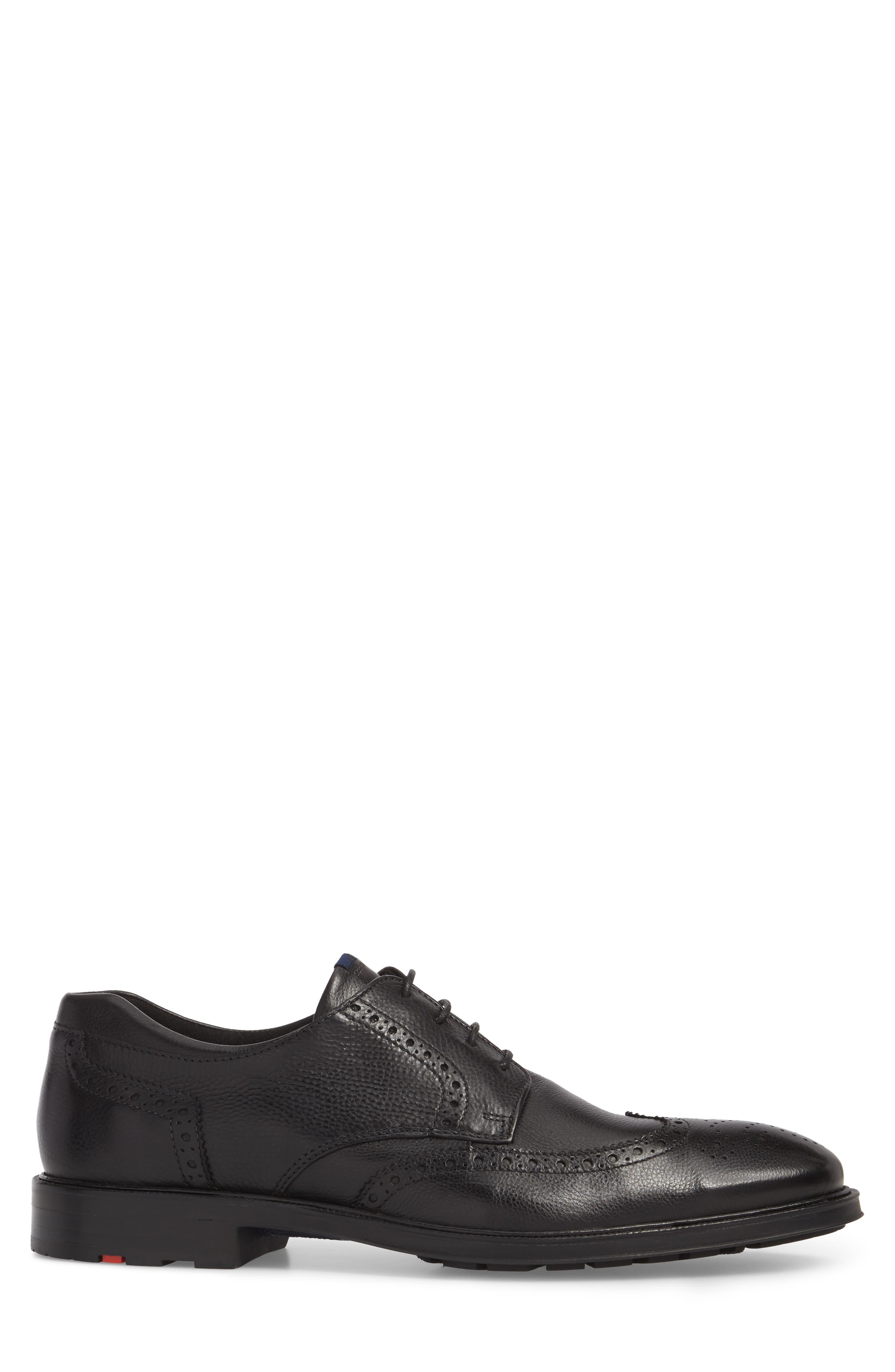 Marian Wingtip,                             Alternate thumbnail 3, color,                             BLACK LEATHER