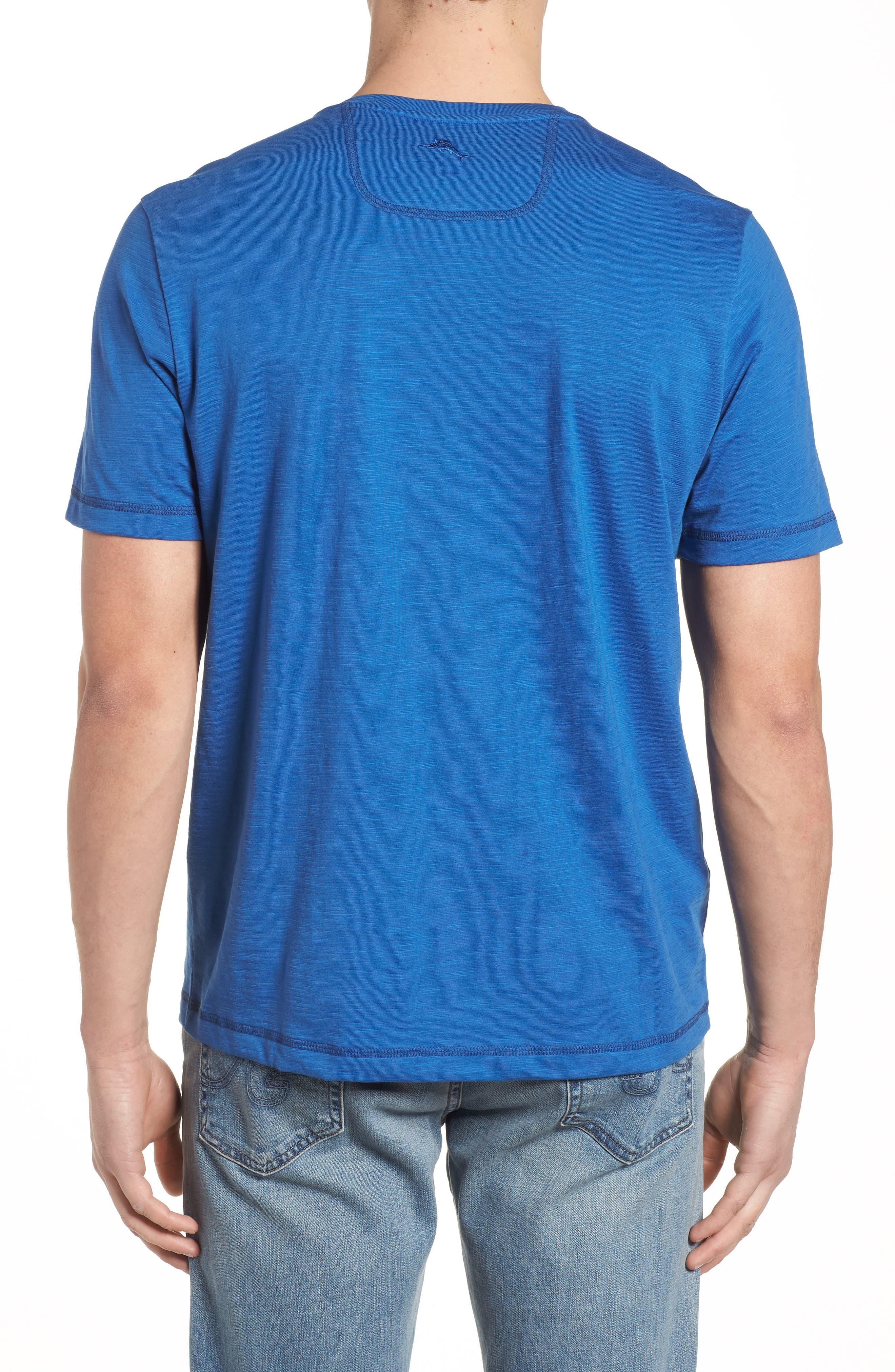Portside Palms V-Neck T-Shirt,                             Alternate thumbnail 16, color,