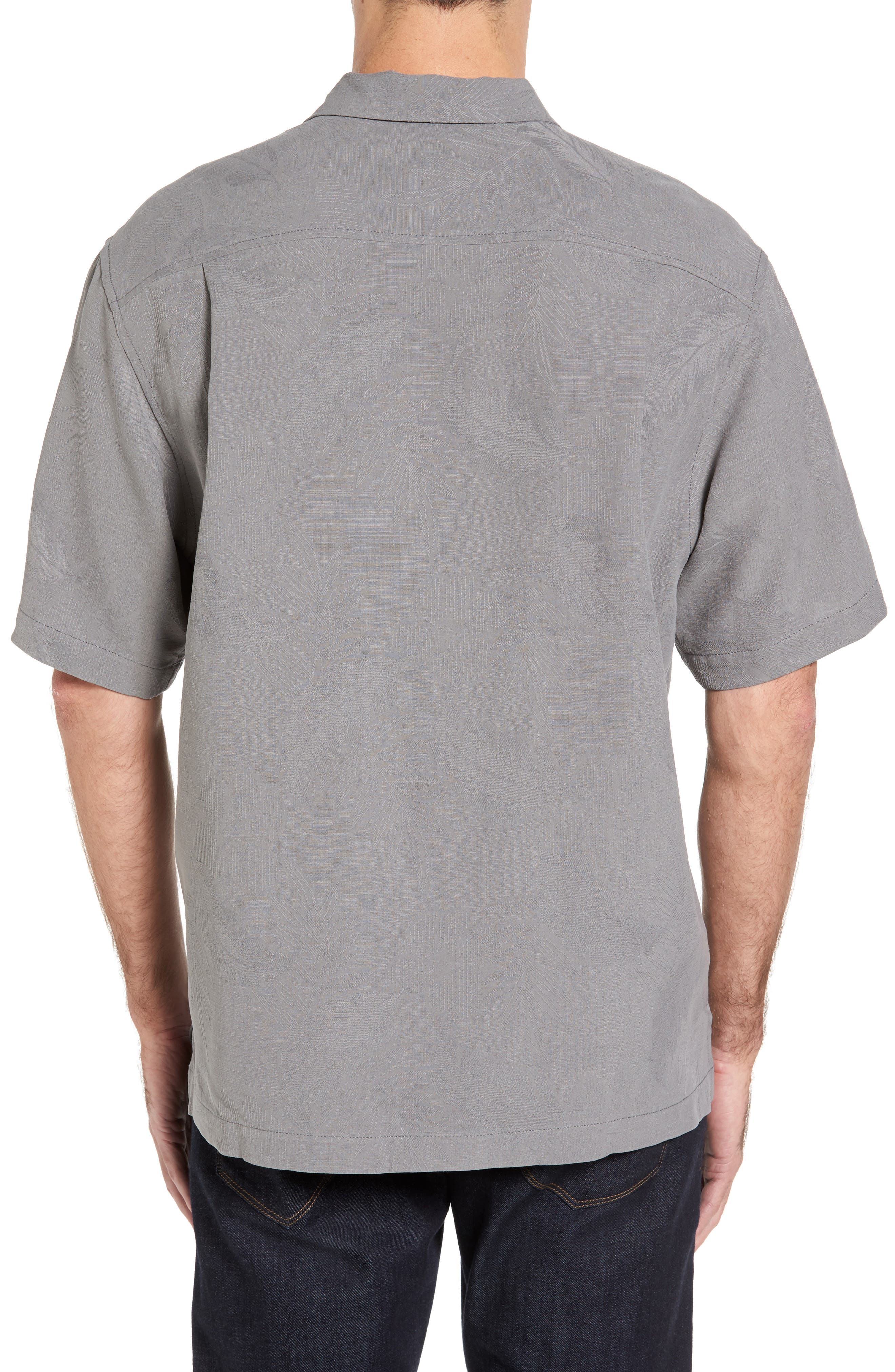 Rio Fronds Short Sleeve Silk Sport Shirt,                             Alternate thumbnail 20, color,