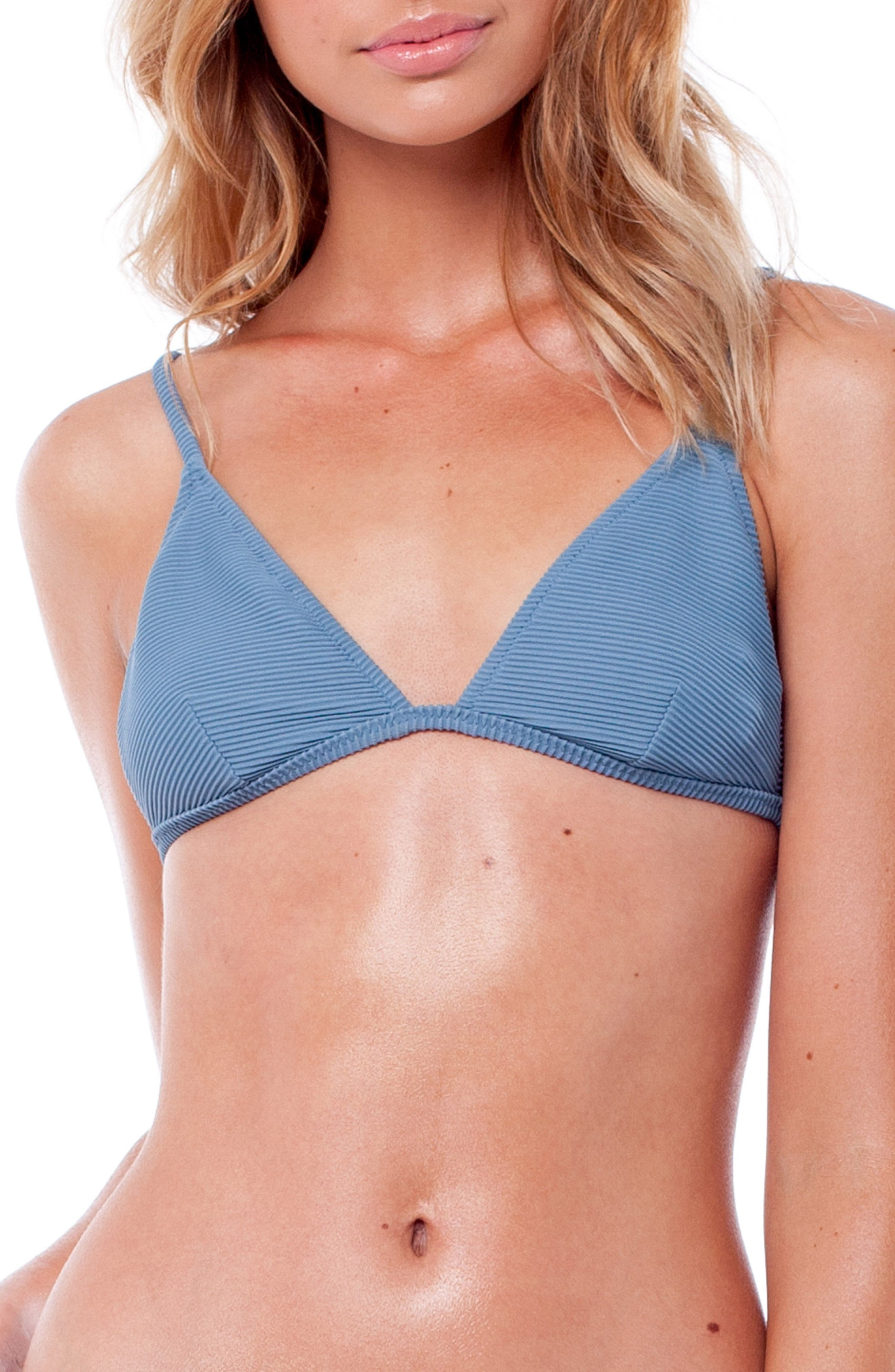 Palm Springs Bralette Bikini Top,                         Main,                         color, STORM