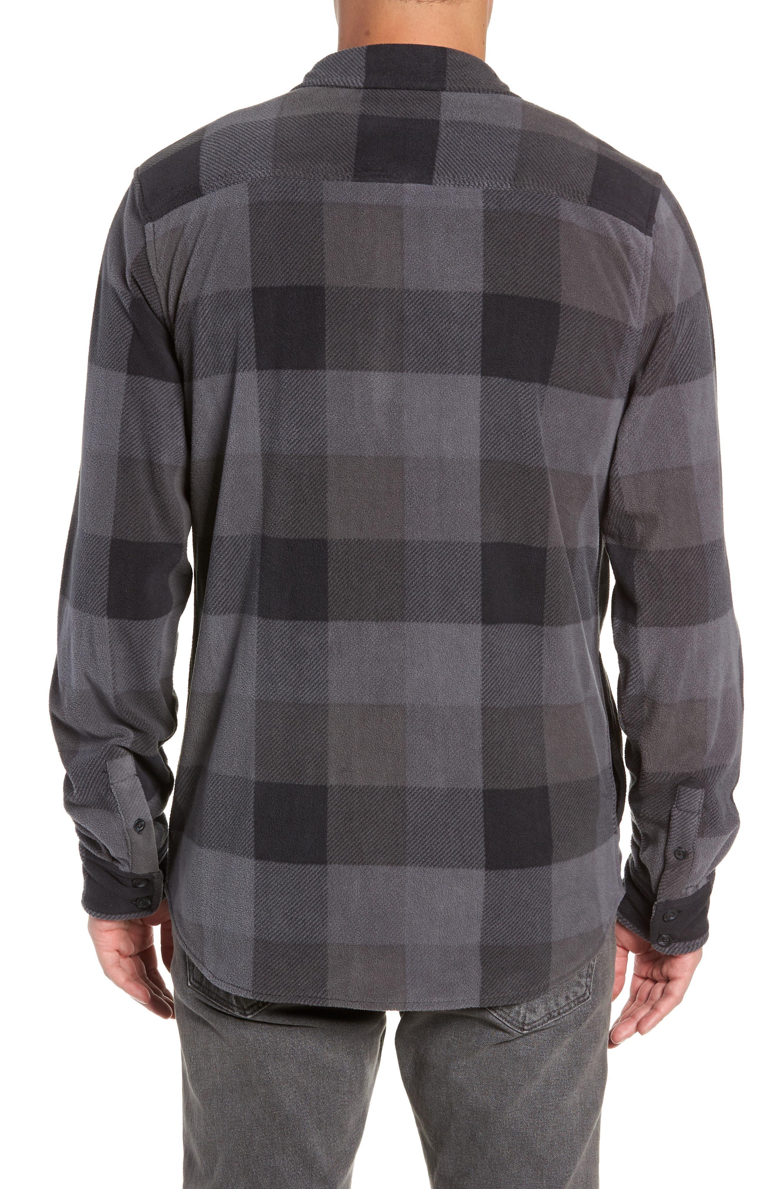 Hillcrest Polar Fleece Shirt Jacket,                             Alternate thumbnail 2, color,                             BLACK/ CHARCOAL