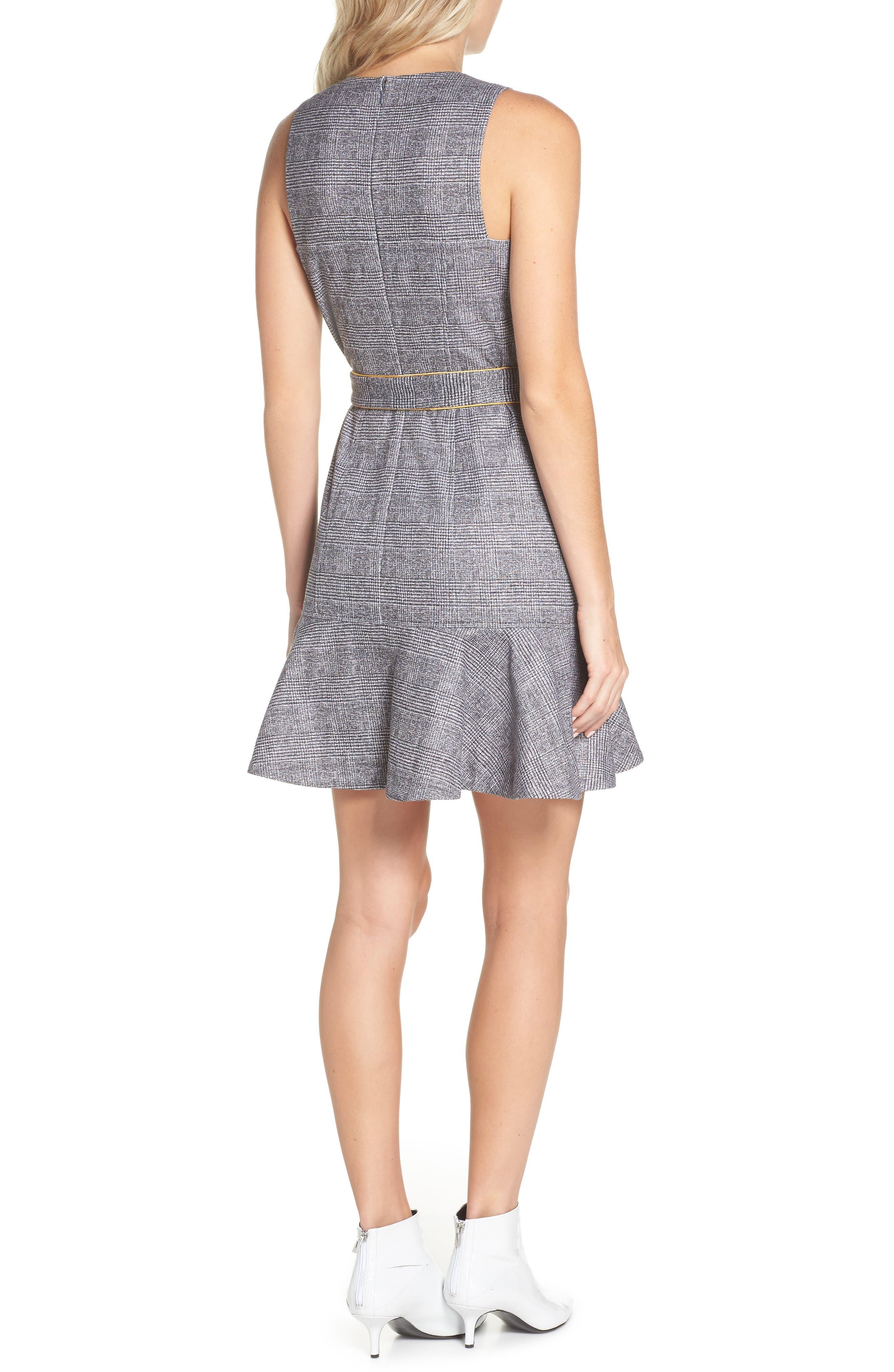 CHELSEA28,                             Sleeveless Plaid Dress,                             Alternate thumbnail 2, color,                             001