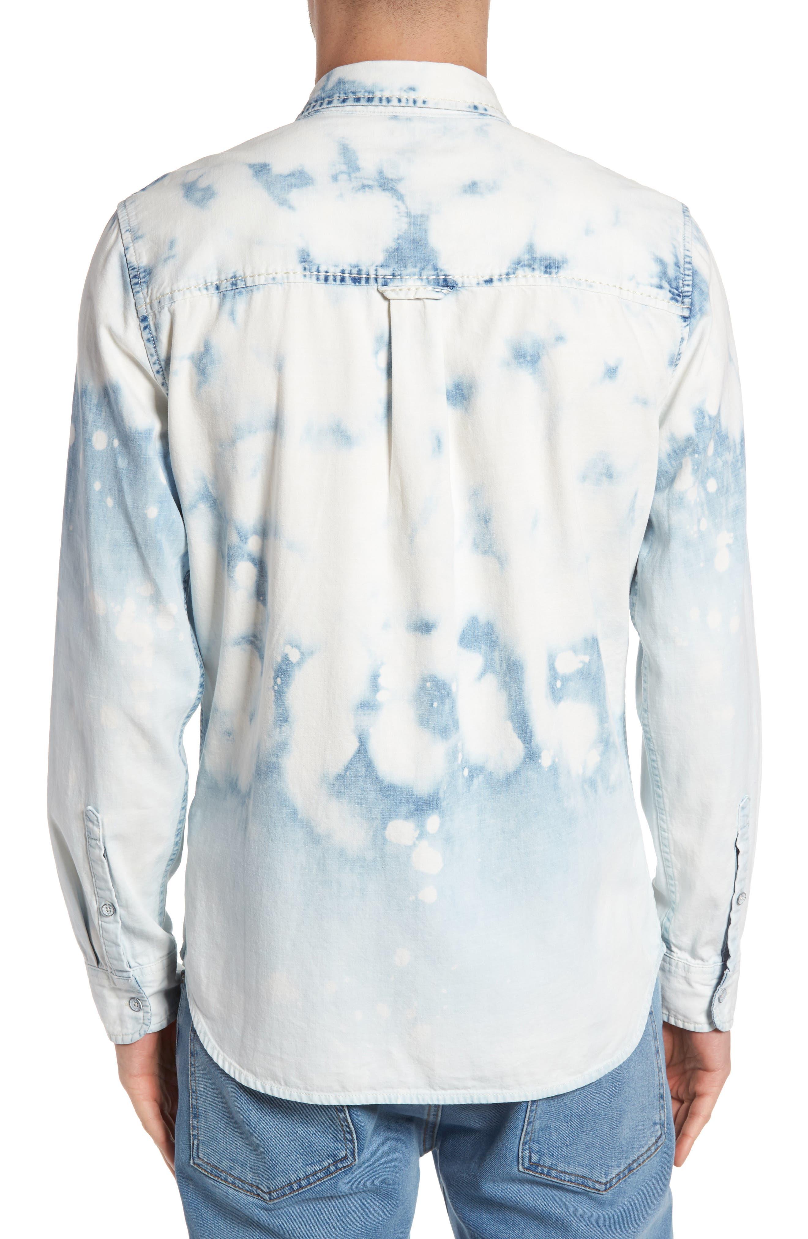 Bleached Denim Shirt,                             Alternate thumbnail 2, color,                             400