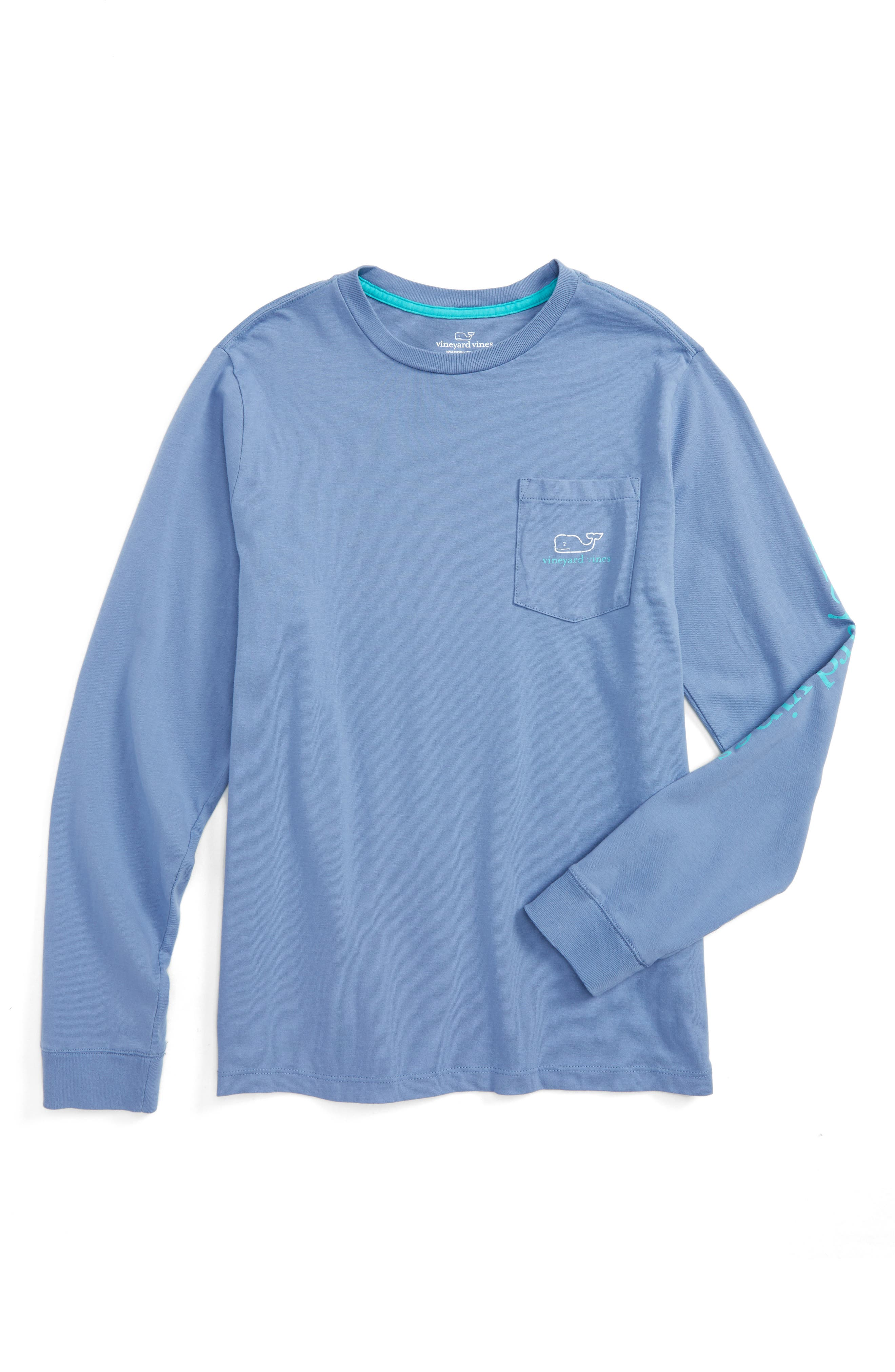 Vintage Whale Long Sleeve Pocket T-Shirt,                             Main thumbnail 2, color,