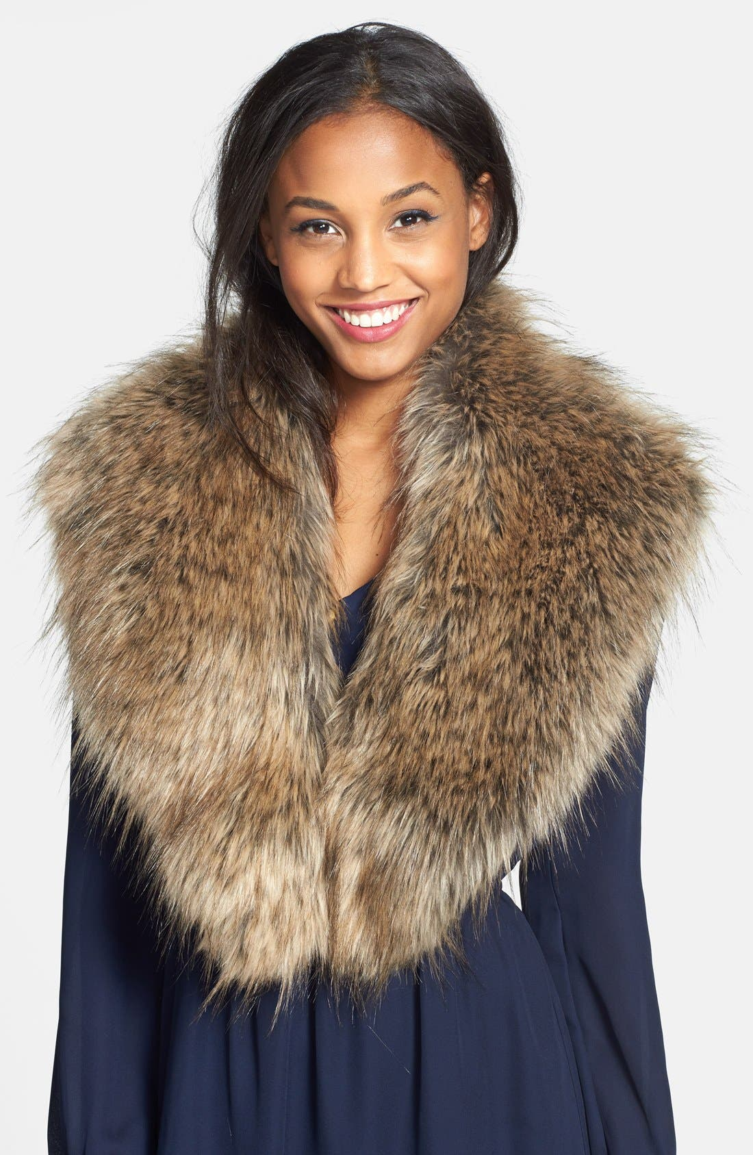 Oversized Faux Fur Collar,                             Main thumbnail 1, color,                             250