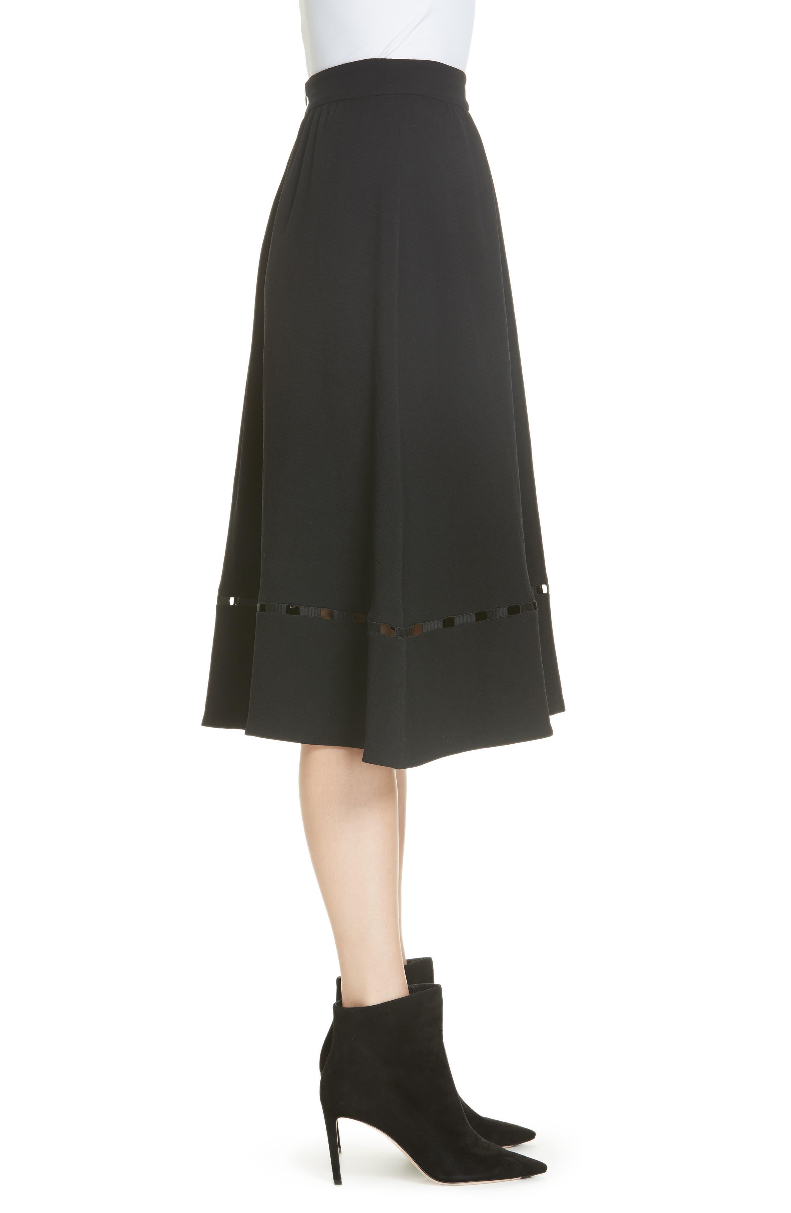 Carmen A-Line Skirt,                             Alternate thumbnail 3, color,                             NOIR