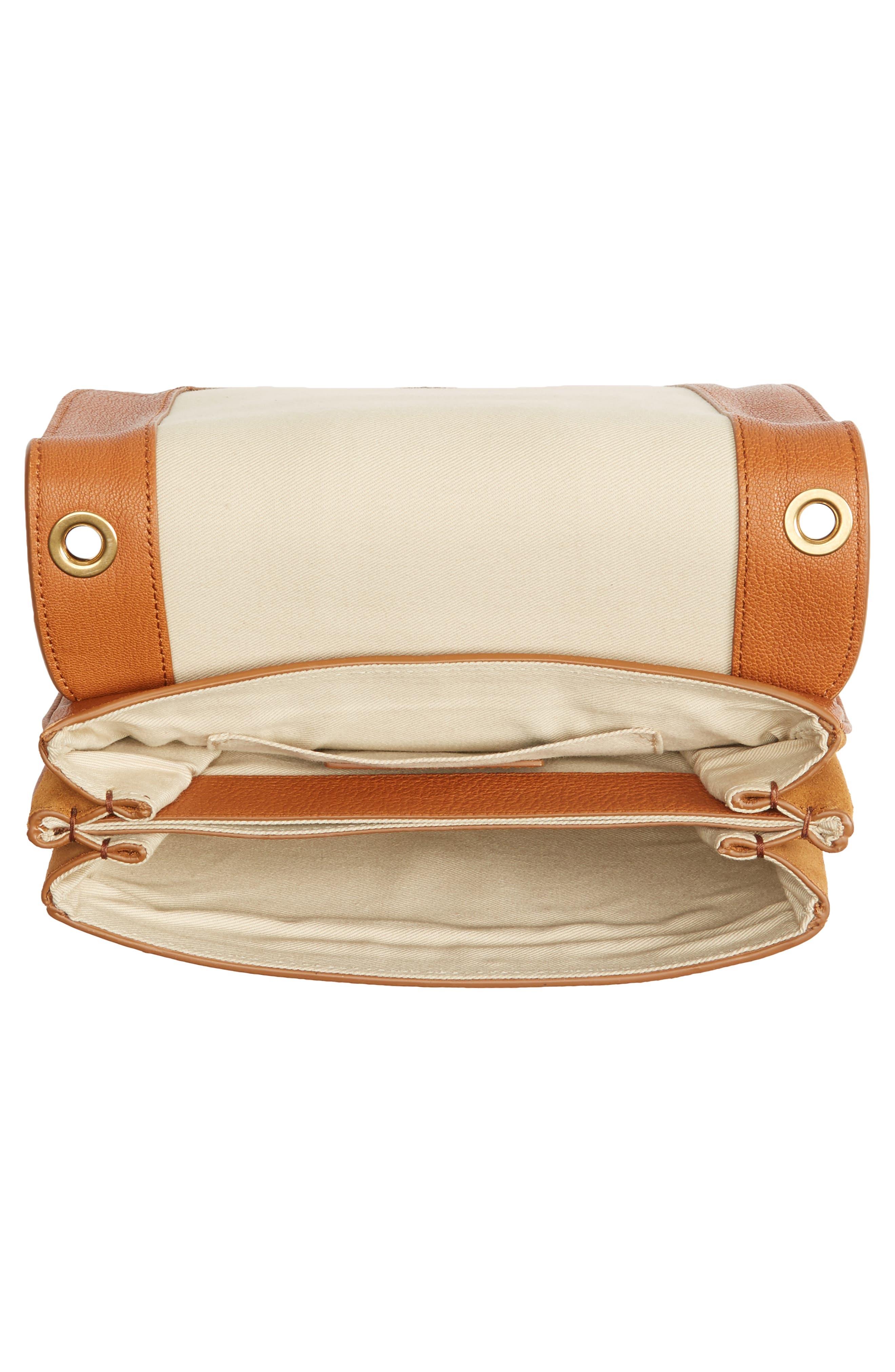 Hana Small Leather Crossbody Bag,                             Alternate thumbnail 21, color,