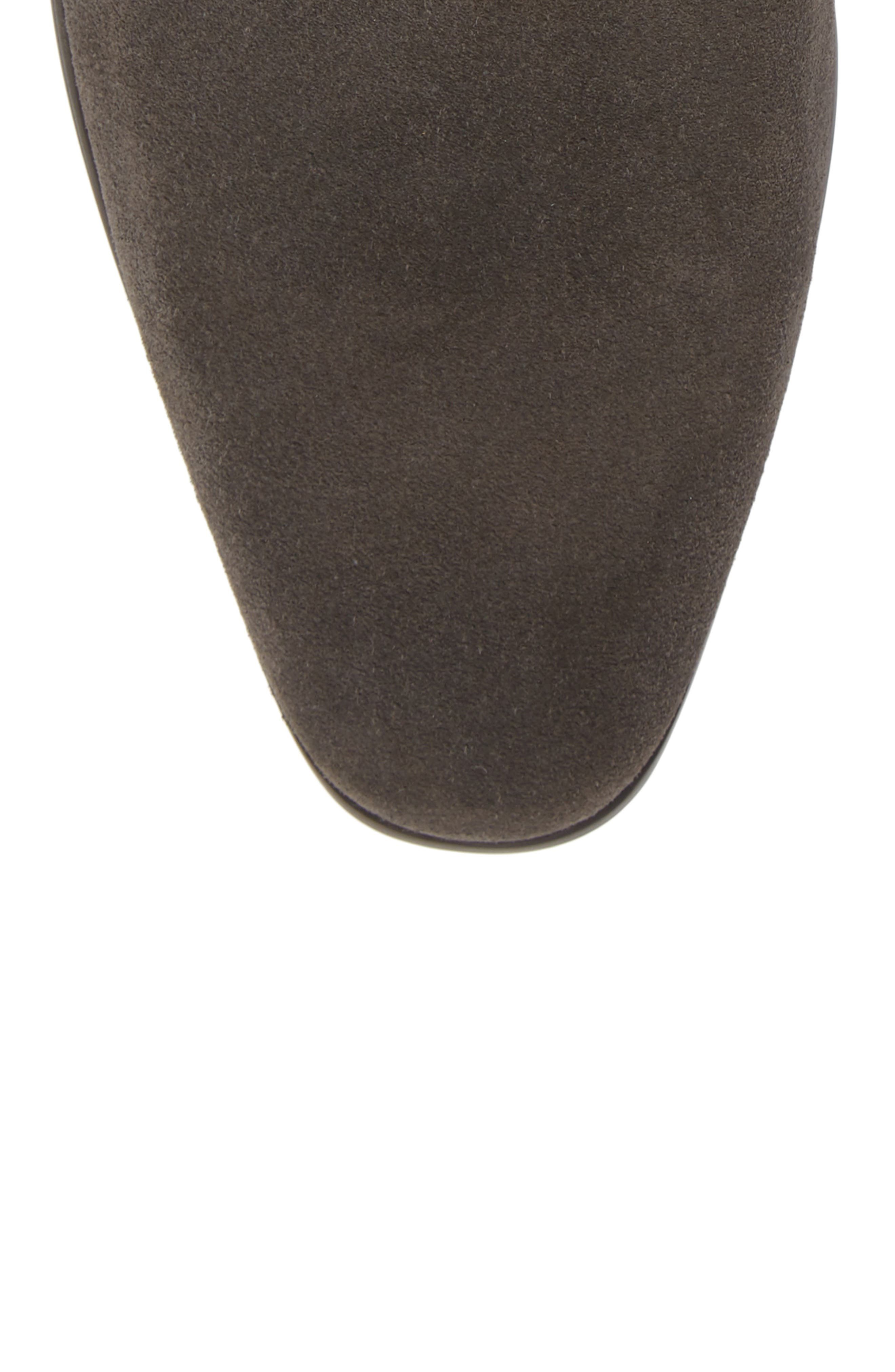 Edward Chelsea Boot,                             Alternate thumbnail 5, color,                             CHARCOAL SUEDE
