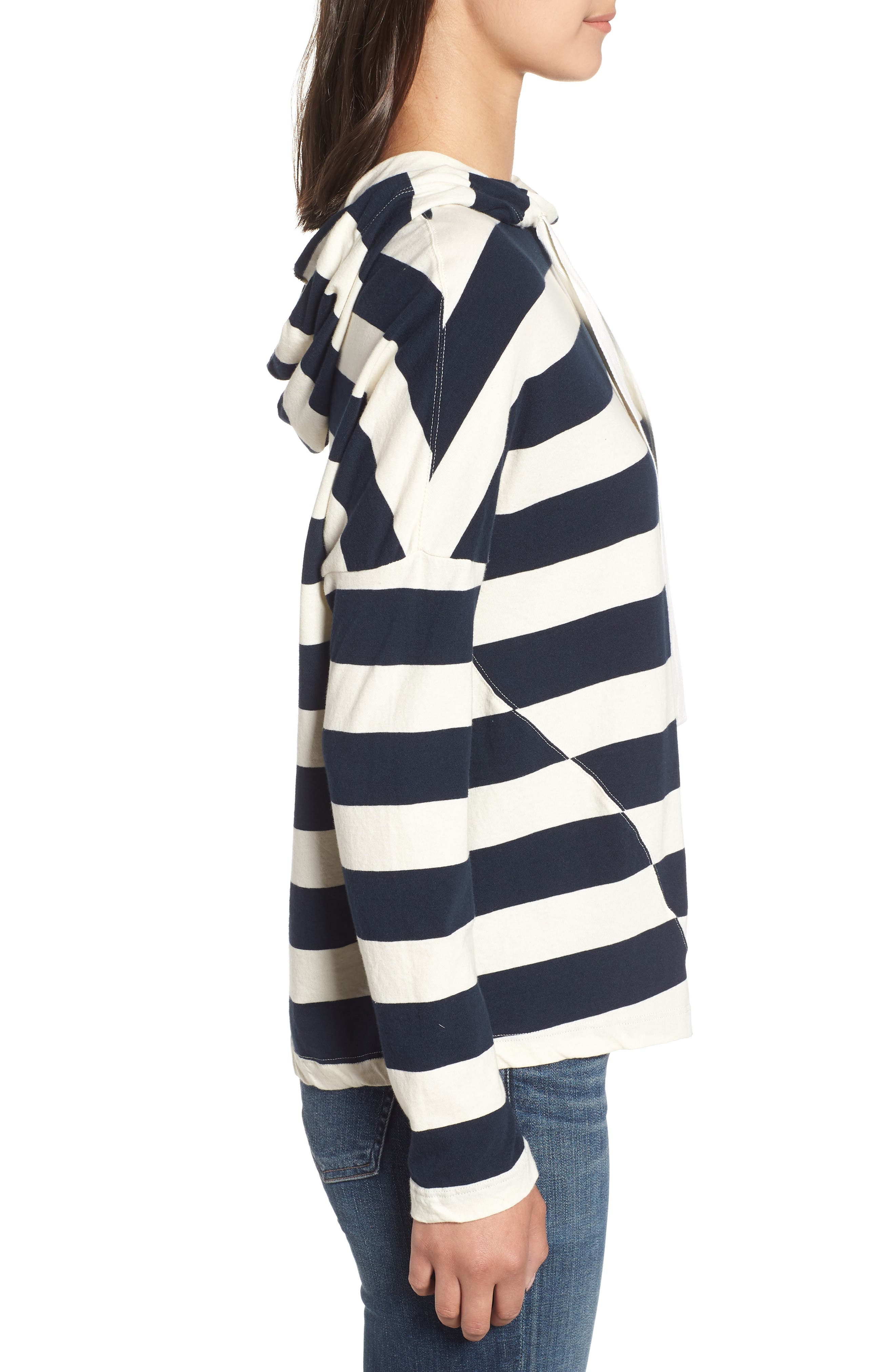 Stripe Hoodie,                             Alternate thumbnail 3, color,                             900