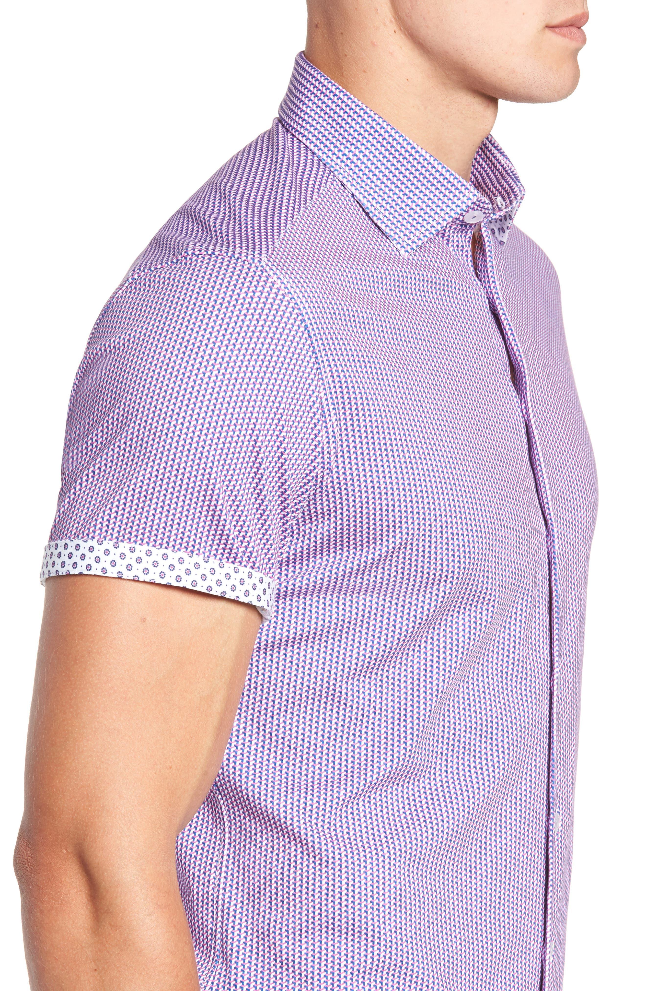Regular Fit Geometric Print Knit Sport Shirt,                             Alternate thumbnail 2, color,                             650