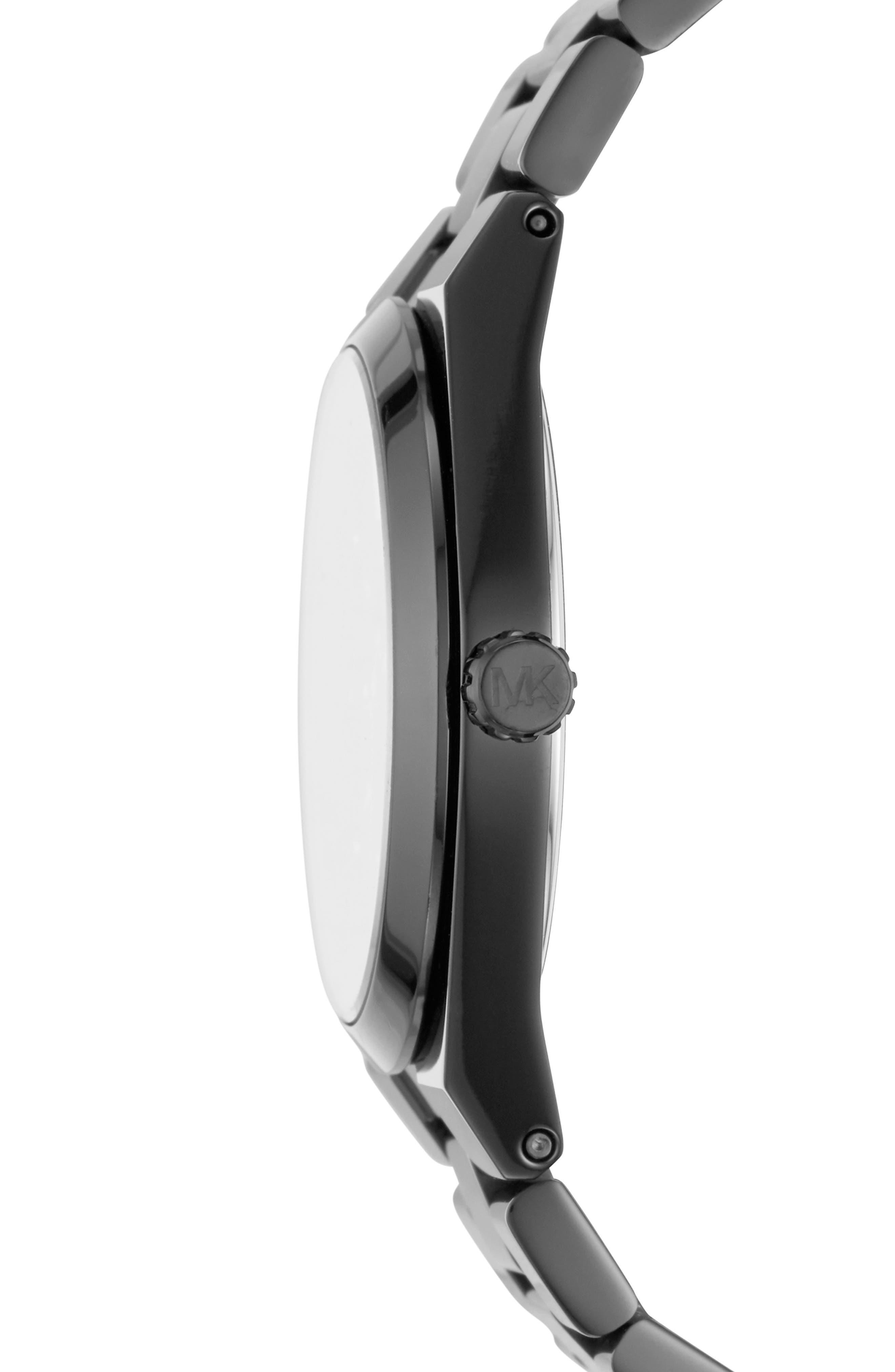 MICHAEL KORS,                             Channing Bracelet Watch, 36mm,                             Alternate thumbnail 2, color,                             BLACK