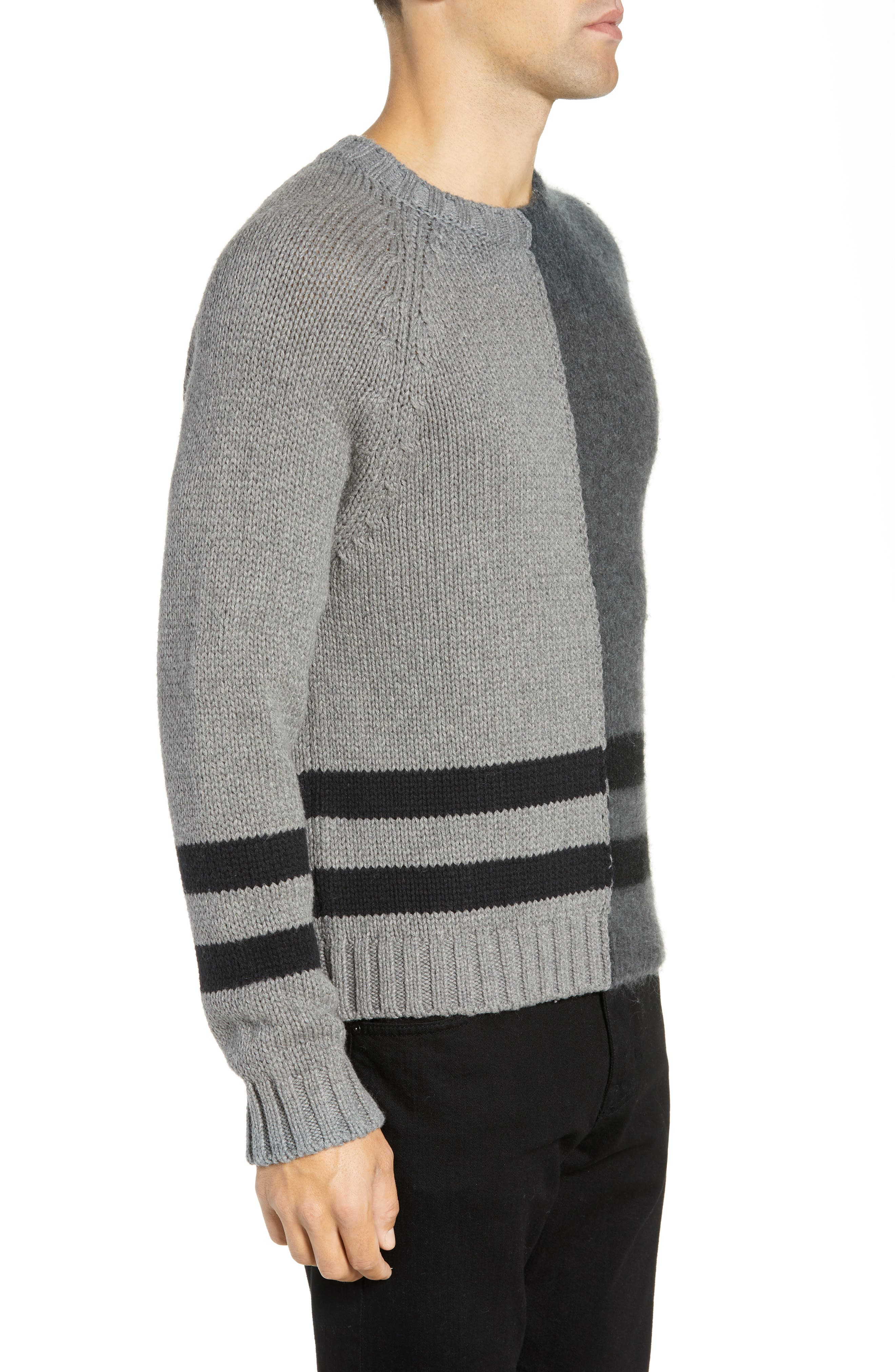 FRENCH CONNECTION,                             Regular Fit Colorblock Stripe Detail Sweater,                             Alternate thumbnail 3, color,                             020
