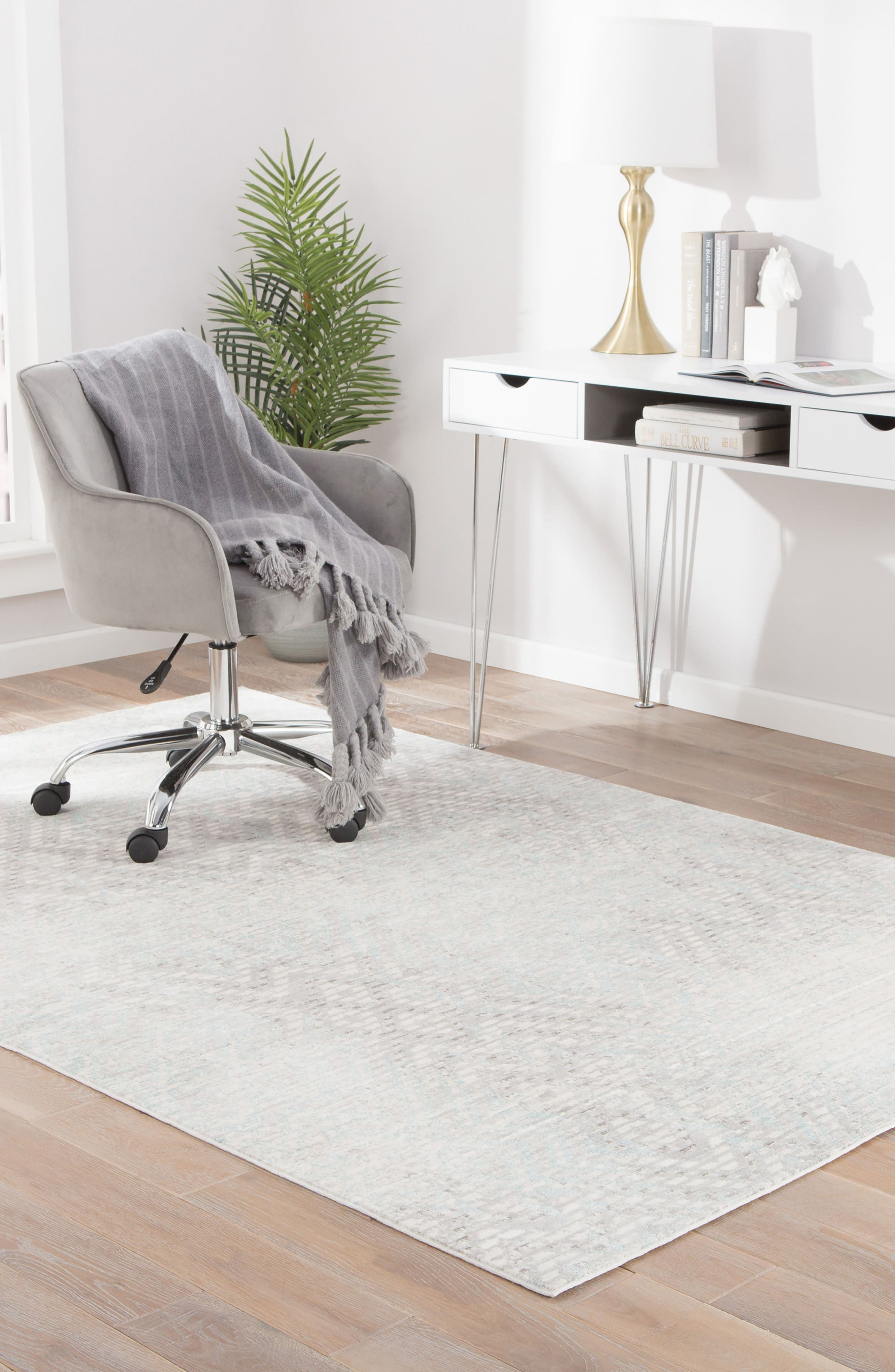 Diamond Interlock Rug,                             Alternate thumbnail 5, color,                             021