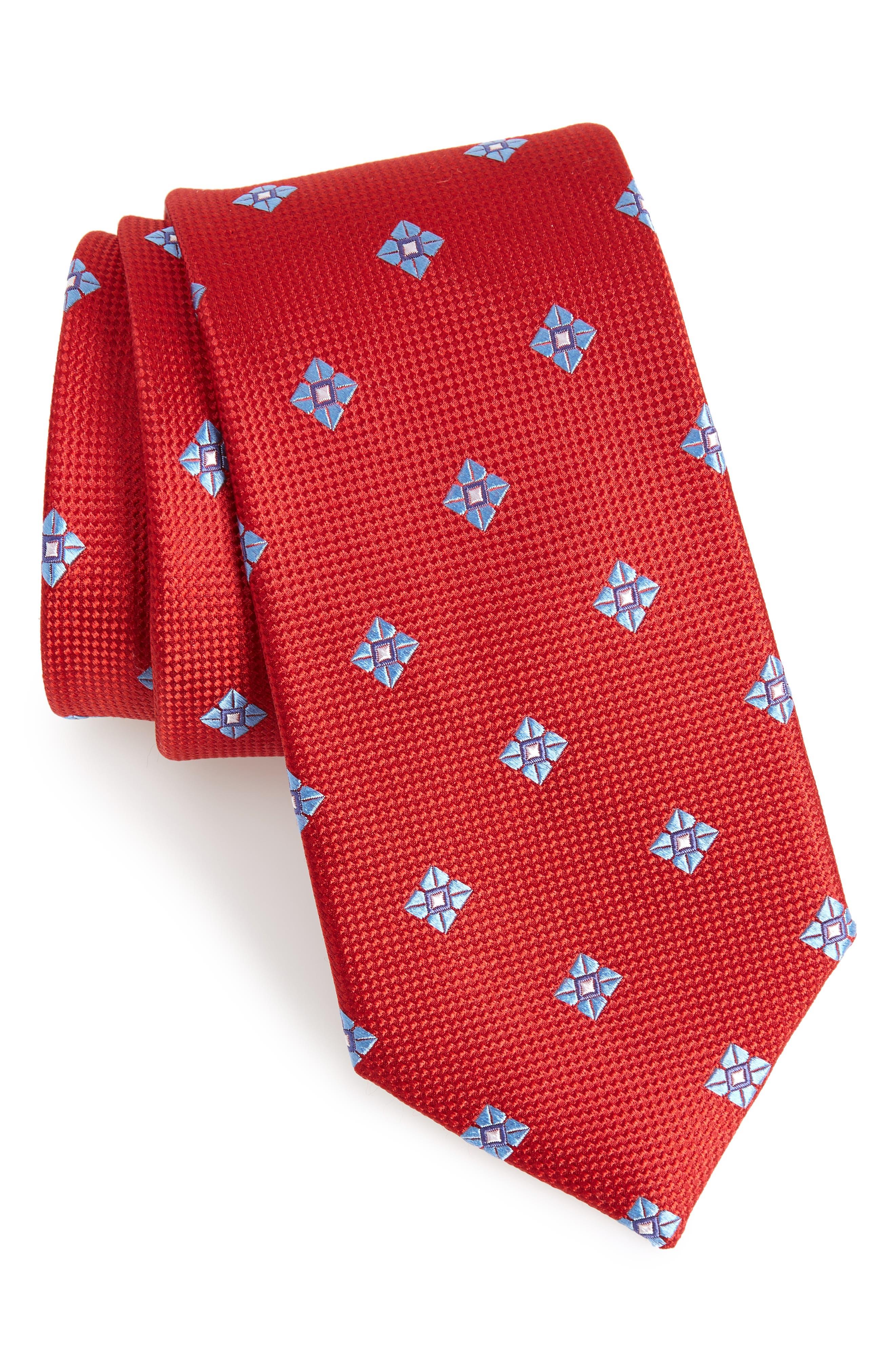 Oxford Medallion Silk Tie,                             Main thumbnail 3, color,