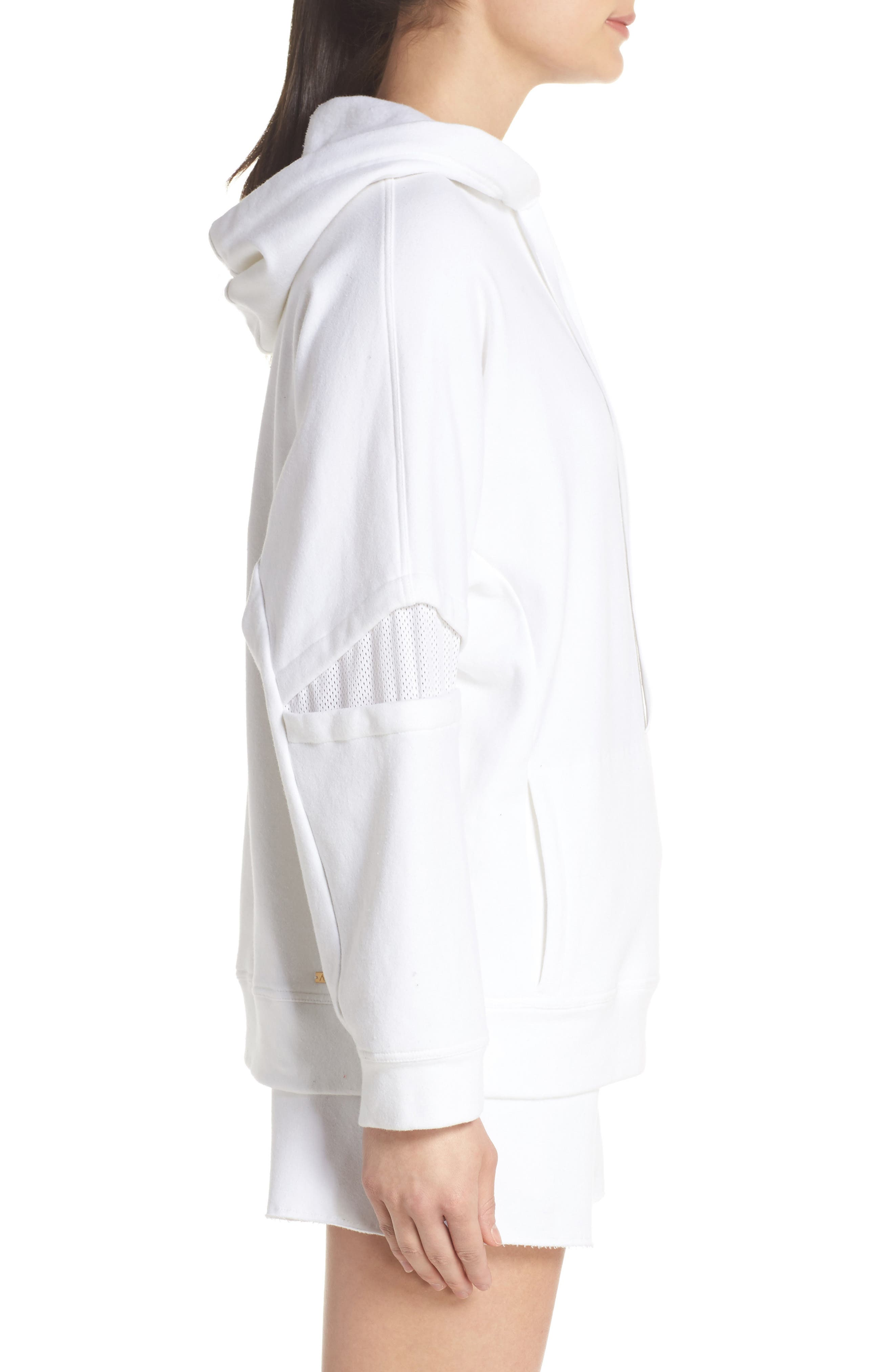 Notch Hoodie Sweatshirt,                             Alternate thumbnail 3, color,                             WHITE