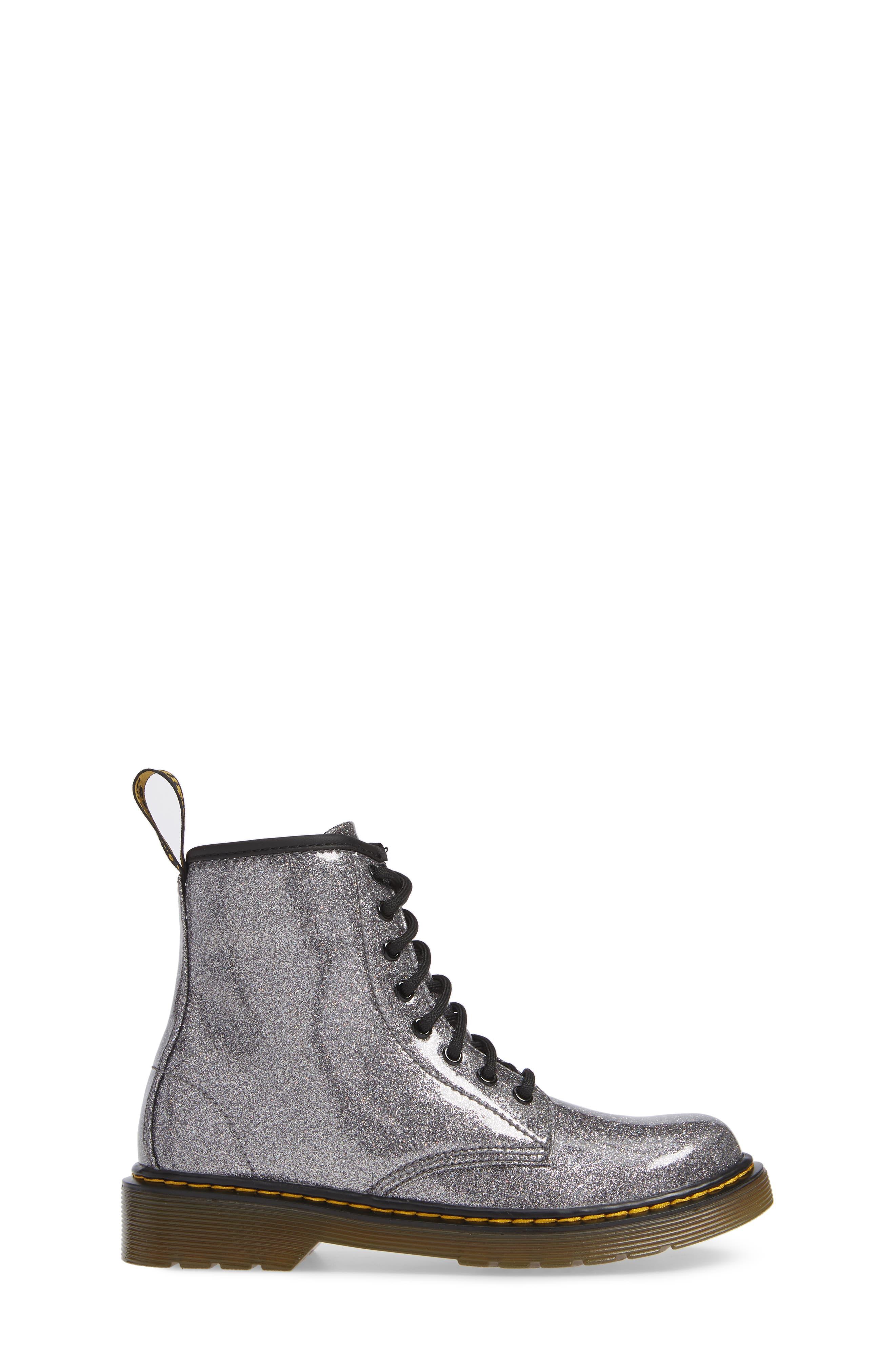 1460 Glitter Boot,                             Alternate thumbnail 3, color,                             GUNMETAL