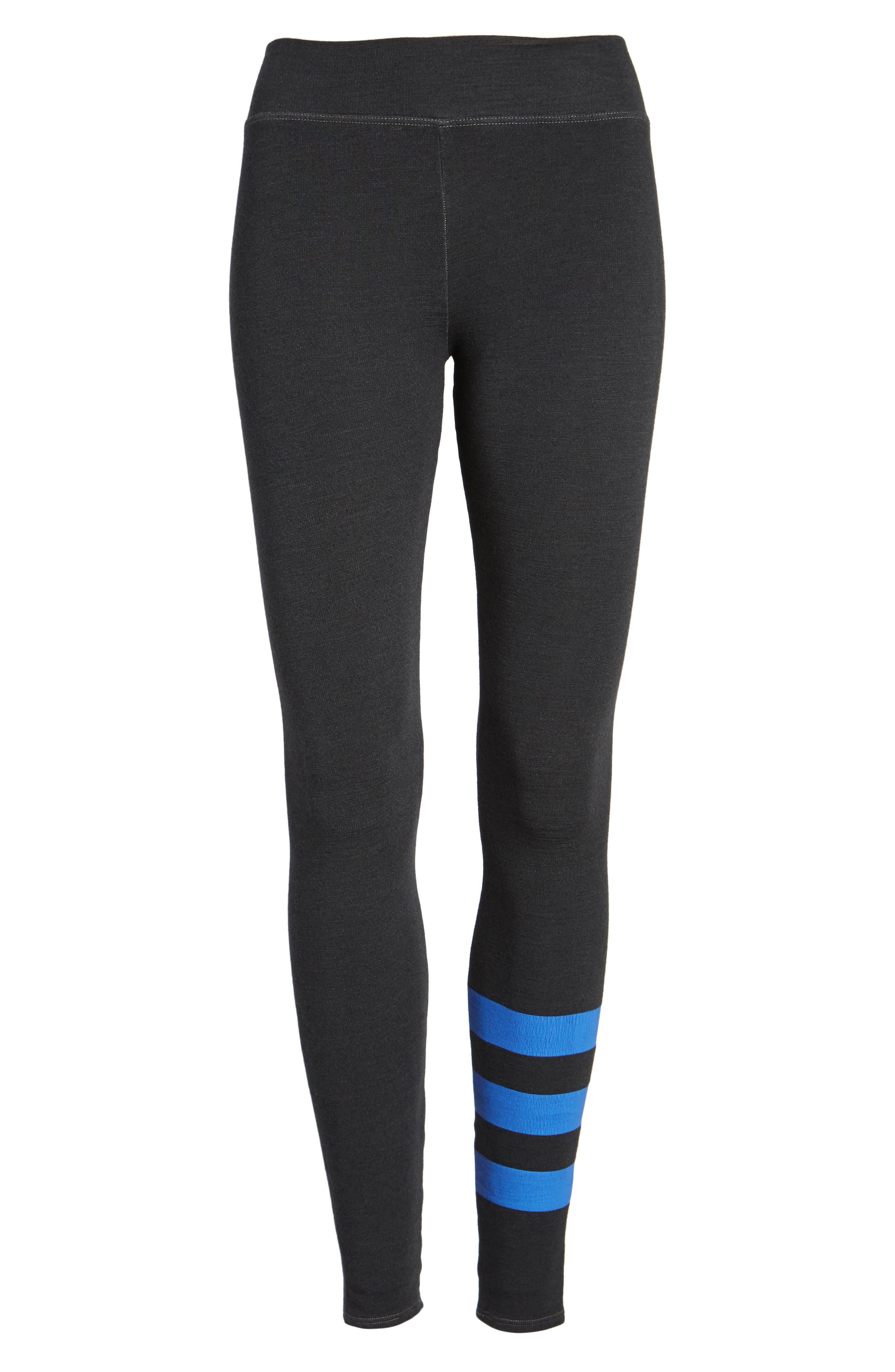 Stripe Yoga Pants,                             Alternate thumbnail 6, color,                             001