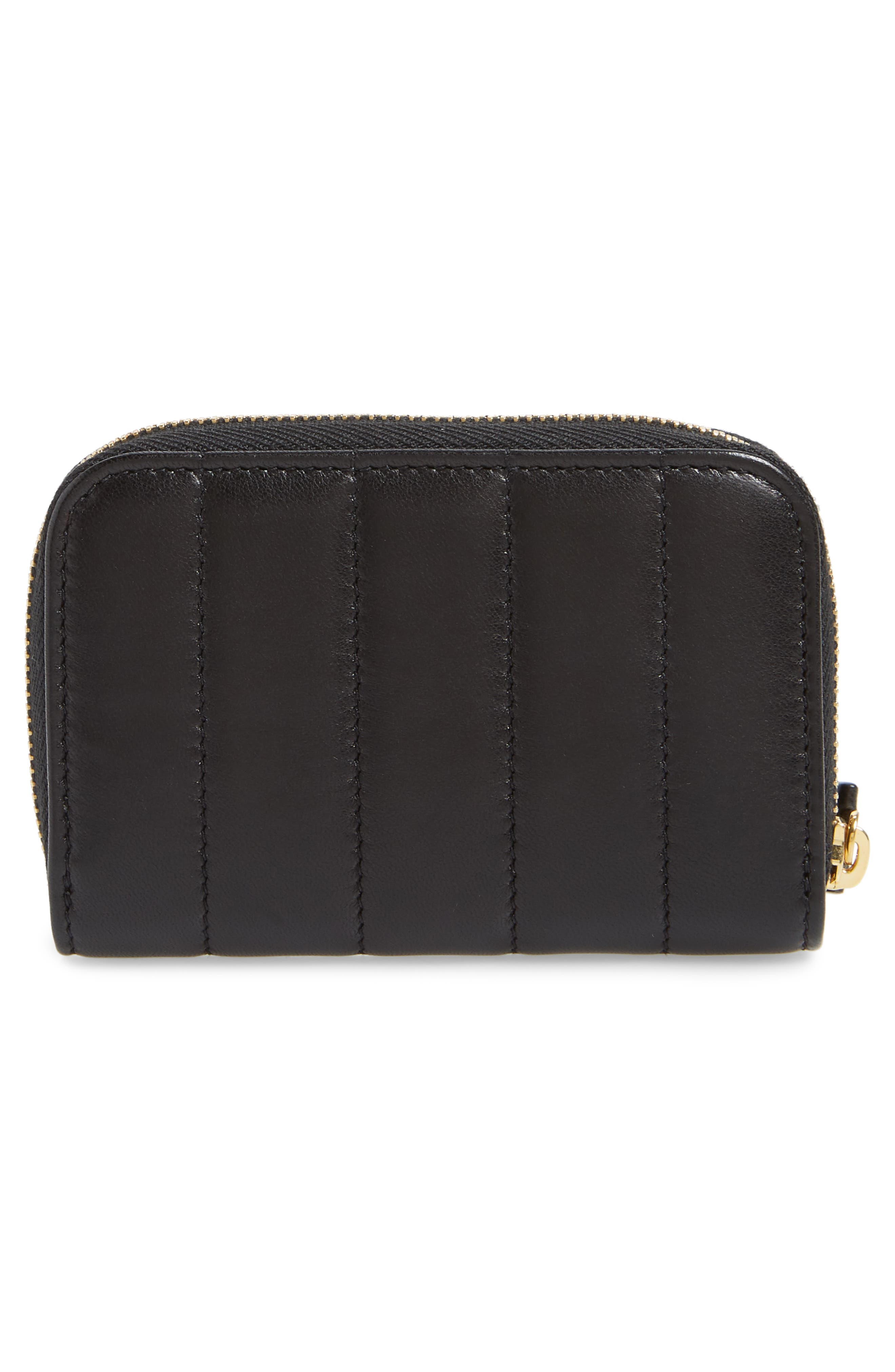 Vicky Zip Around Card Wallet,                             Alternate thumbnail 4, color,                             NOIR