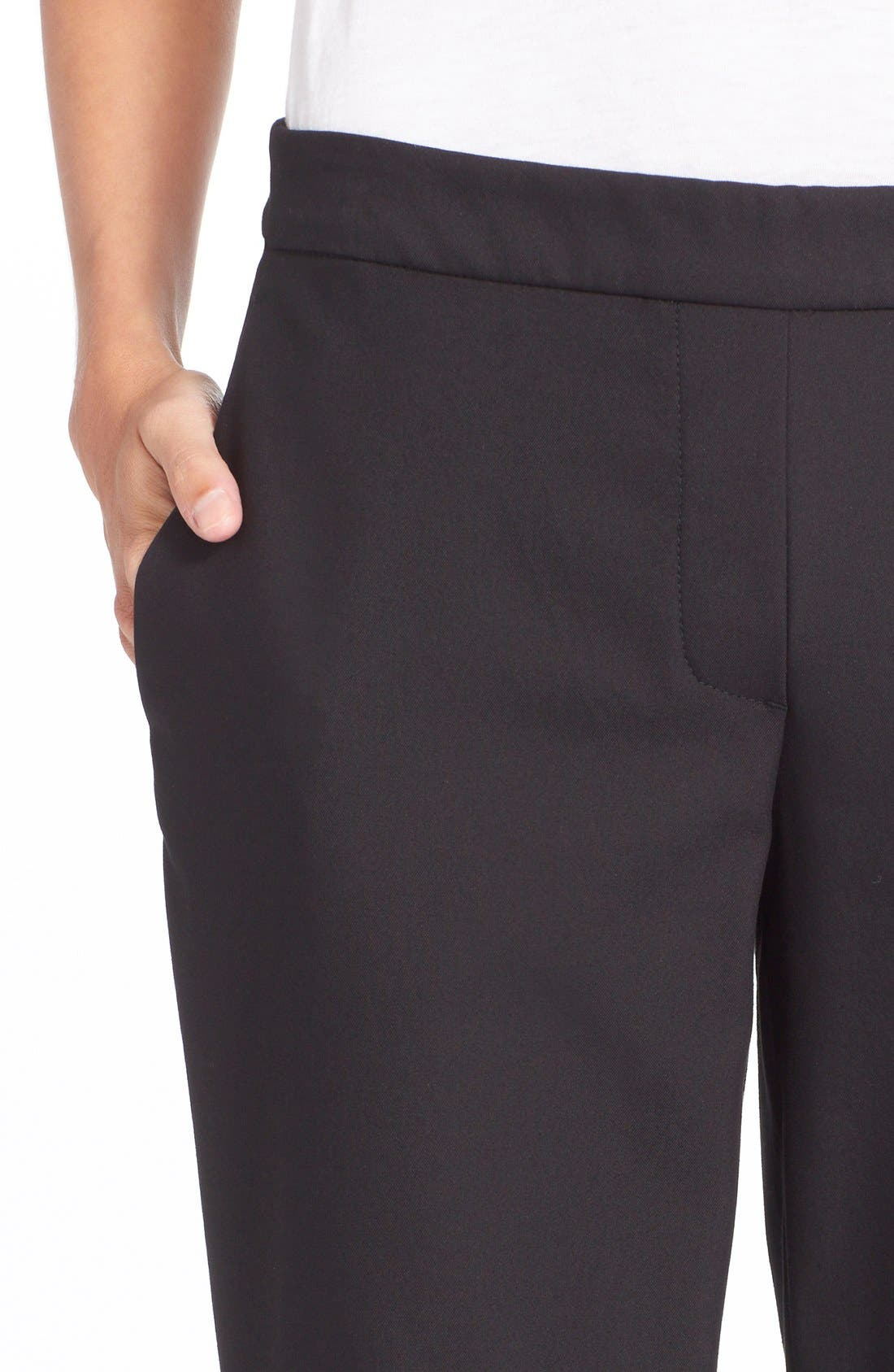 'Thaniel' Trousers,                             Alternate thumbnail 4, color,                             BLACK