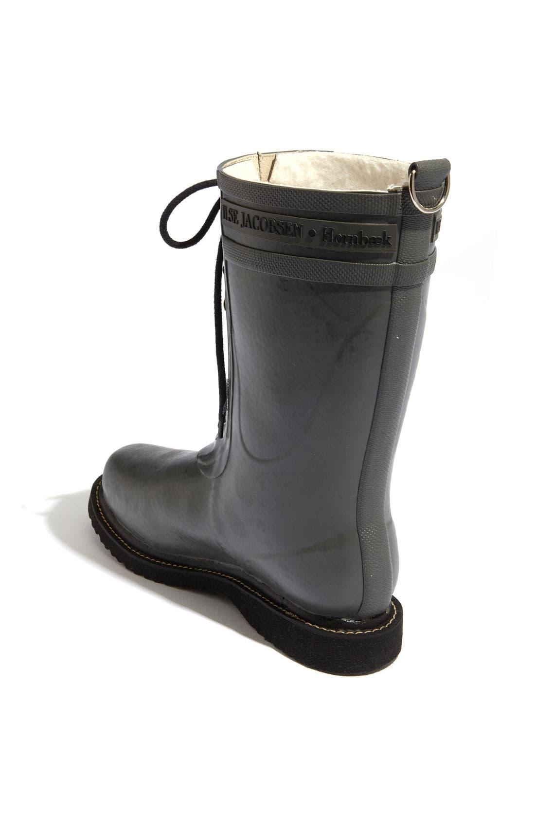 Rubber Waterproof Boot,                             Alternate thumbnail 2, color,                             GREY