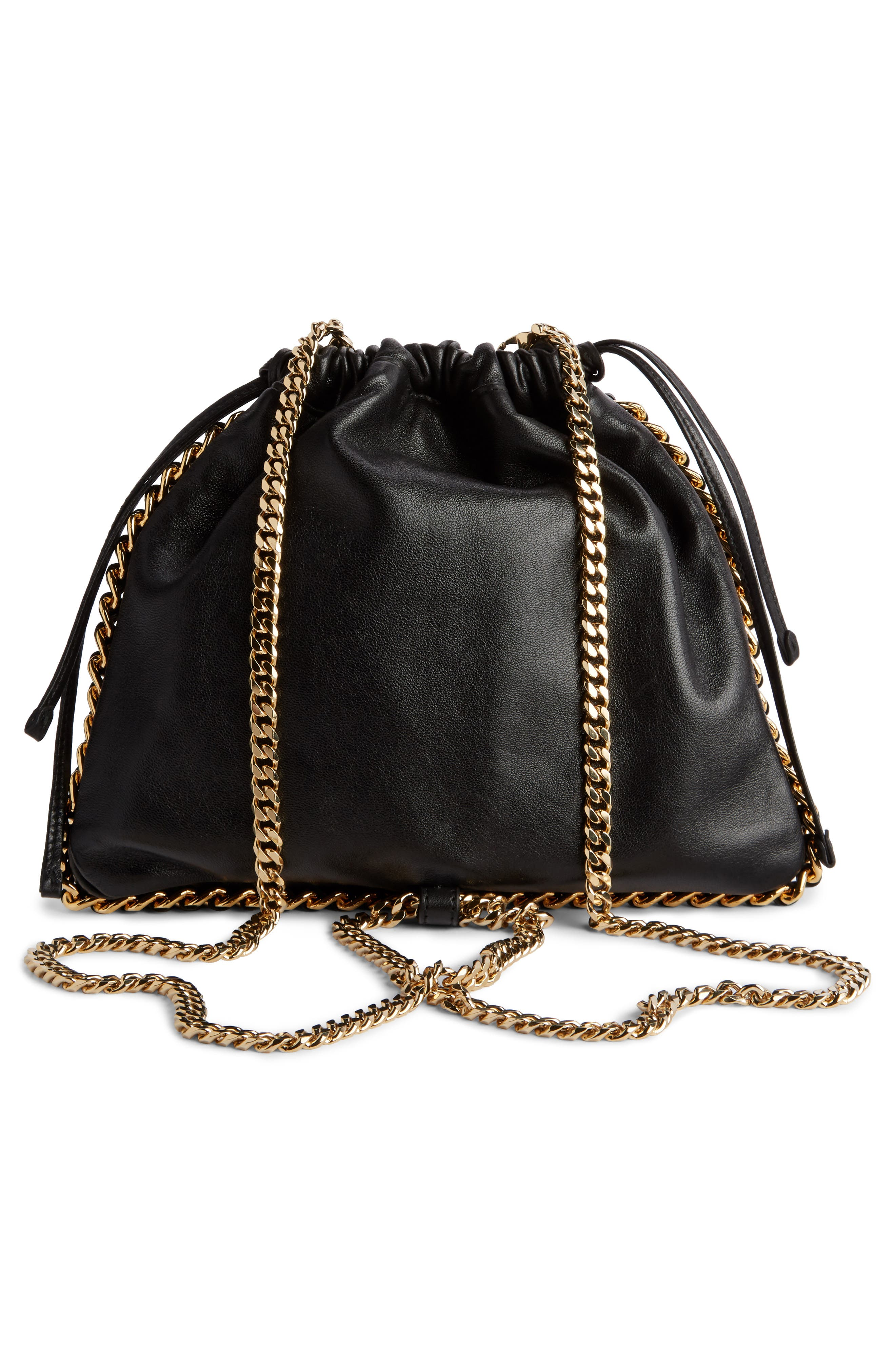 Leather Bracelet Backpack,                             Alternate thumbnail 3, color,                             NOIR