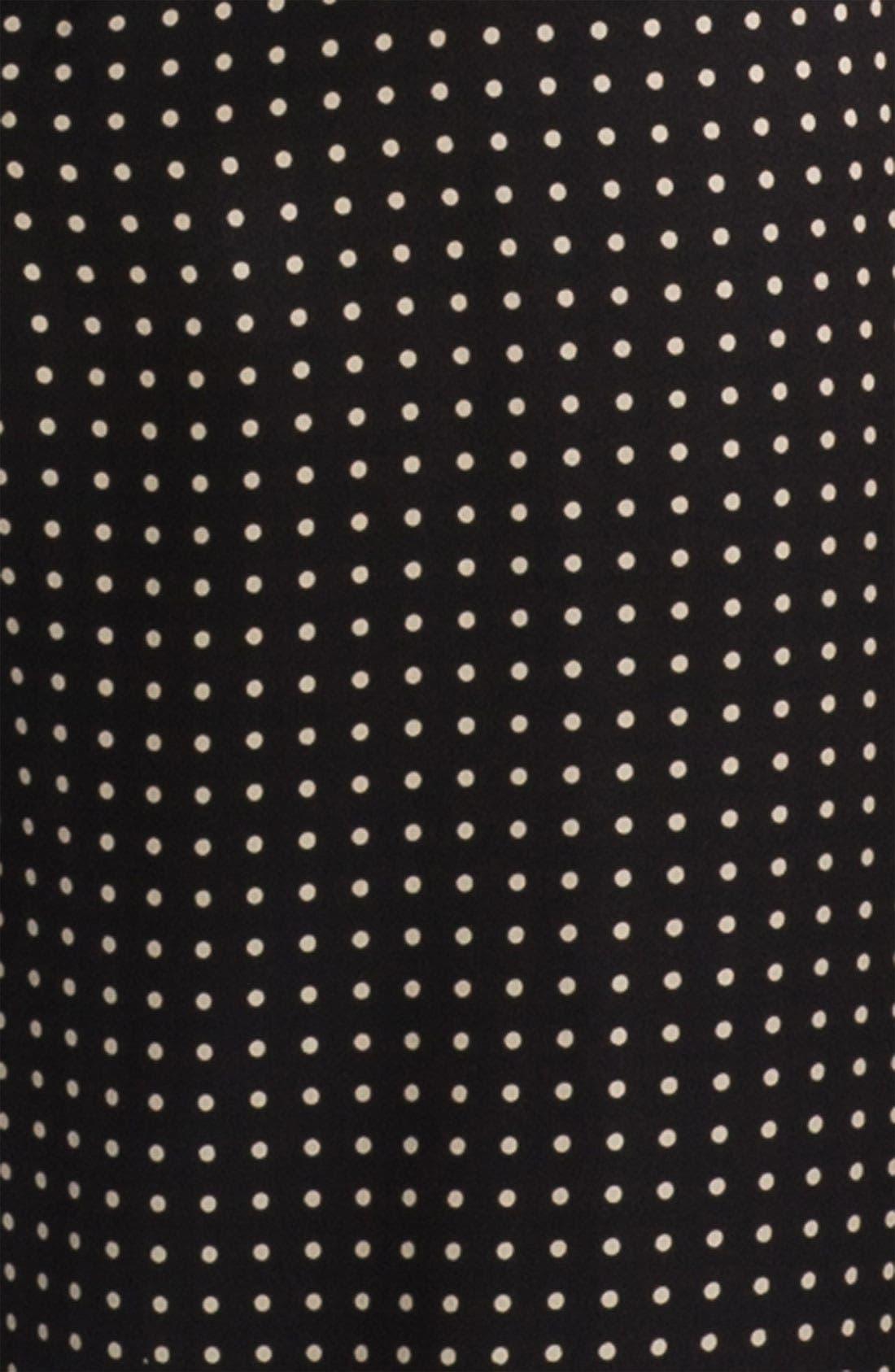 Dot Silk Pajamas,                             Alternate thumbnail 3, color,                             BLACK