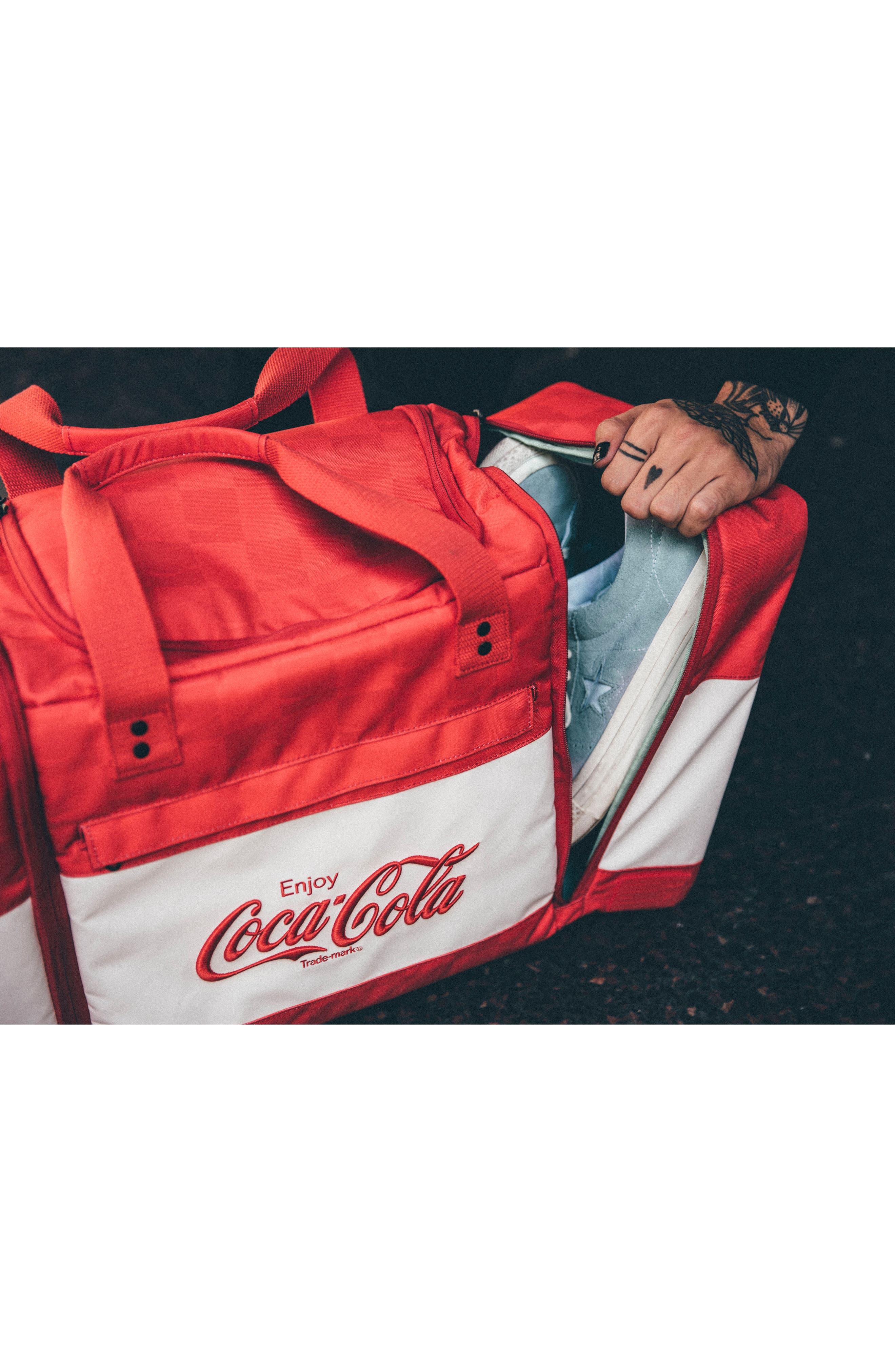 Coca Cola Sneaker Duffel Bag,                             Alternate thumbnail 7, color,                             600