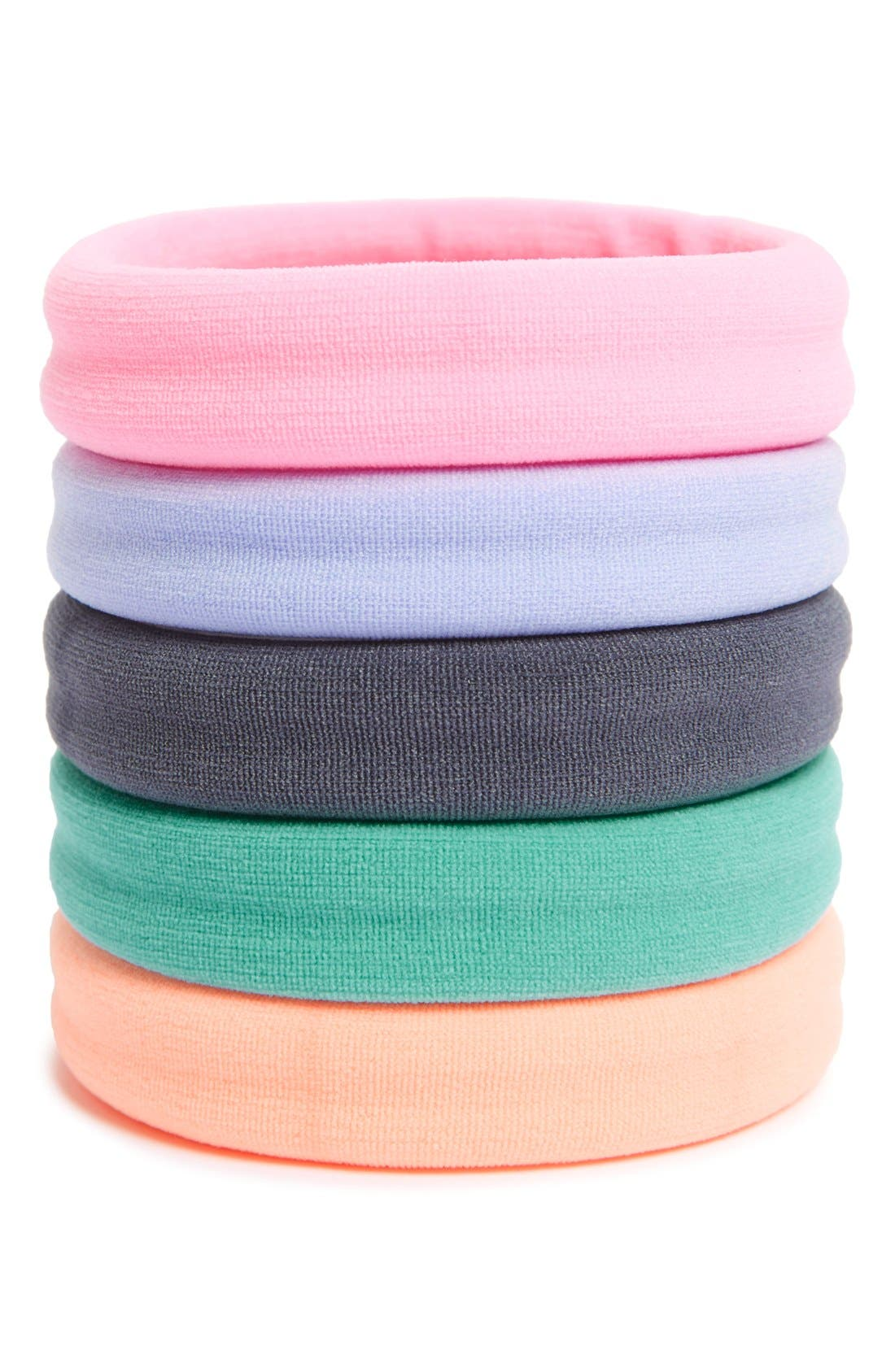 Set of 5 Sport Ponytail Holders,                             Main thumbnail 15, color,