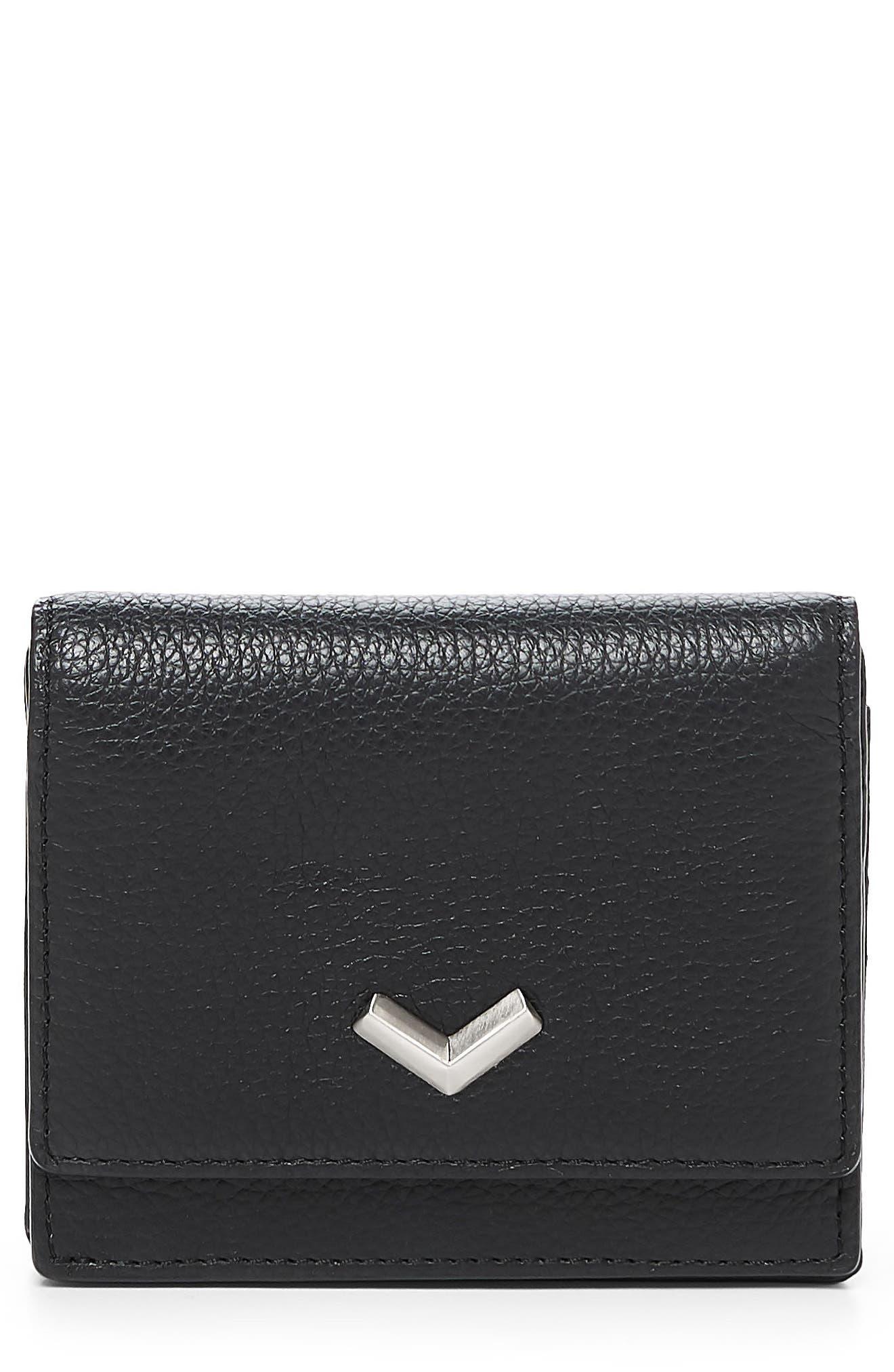 Soho Mini Leather Wallet,                             Main thumbnail 1, color,                             001