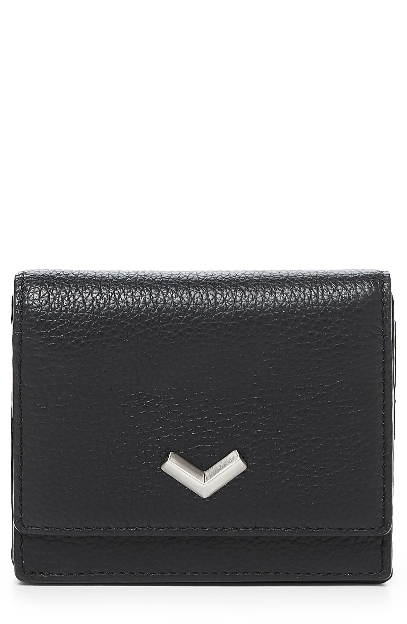 Soho Mini Leather Wallet,                         Main,                         color, 001