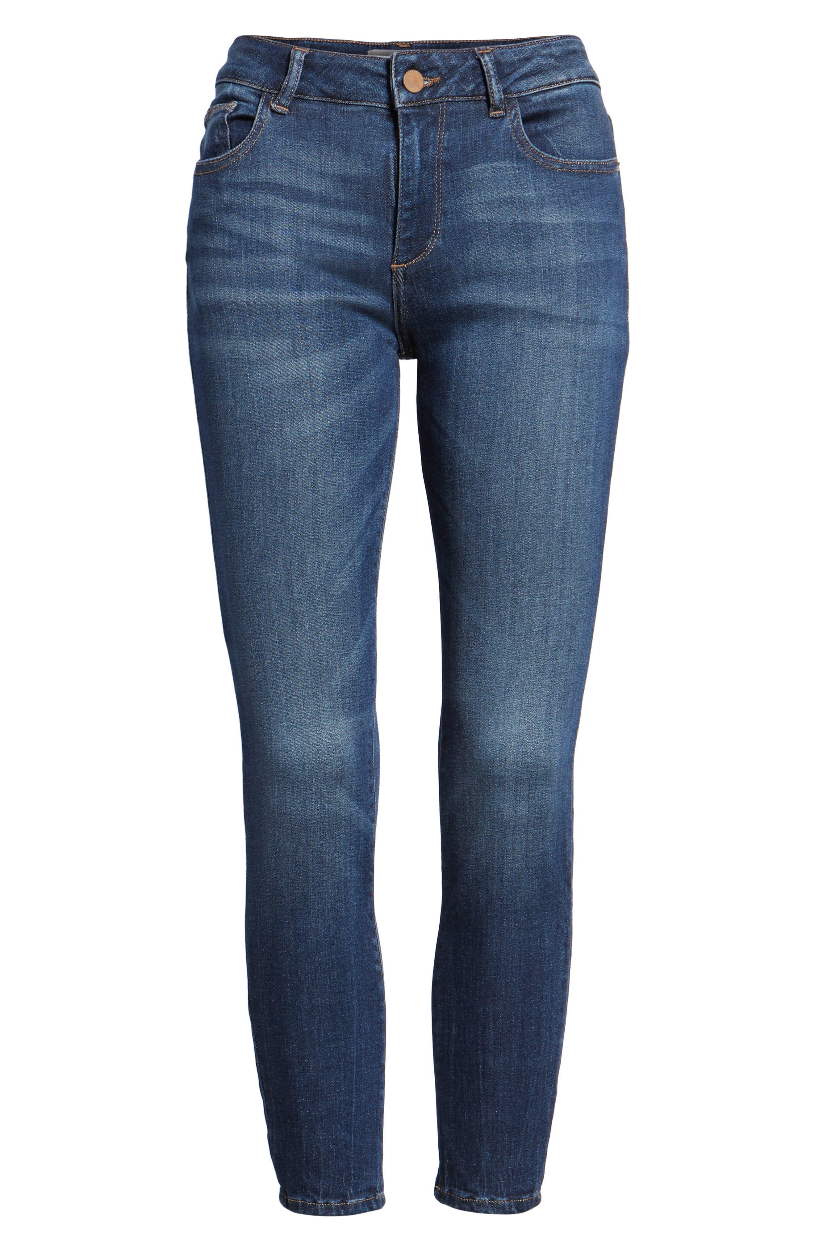 Florence Instasculpt Crop Skinny Jeans,                             Alternate thumbnail 7, color,                             405