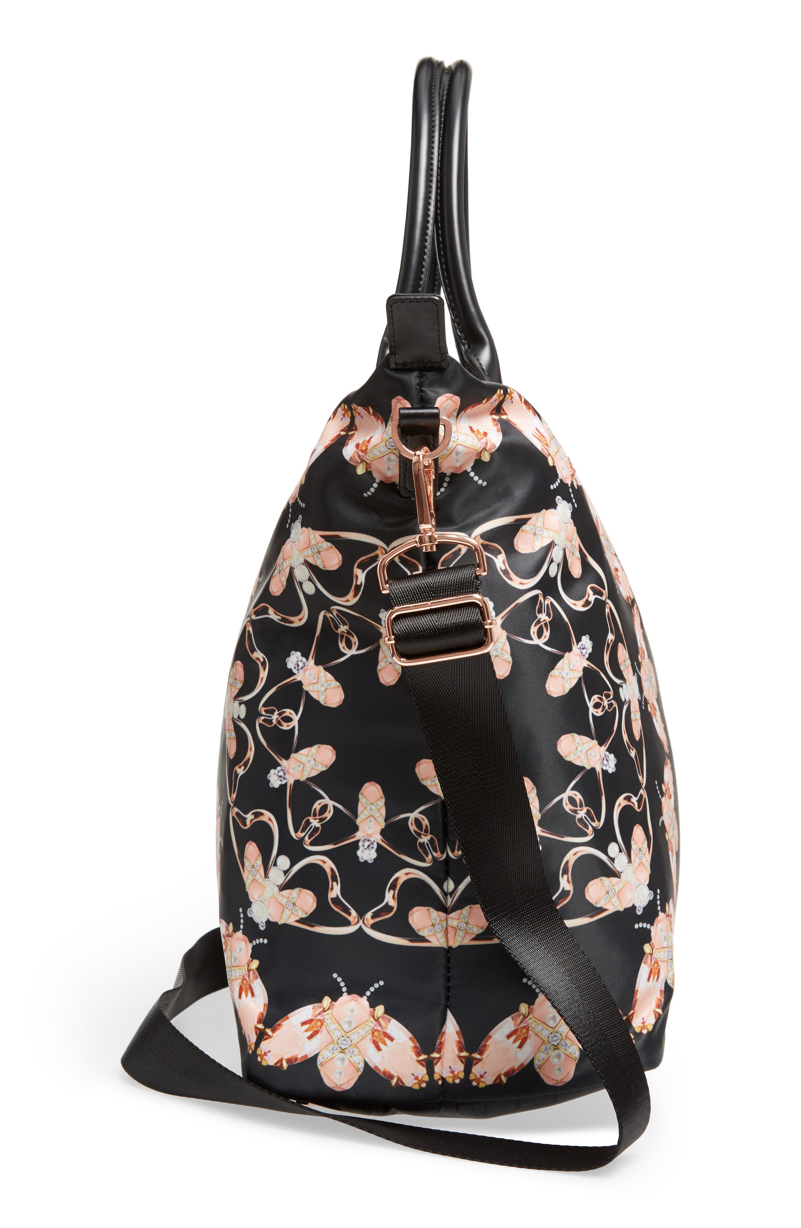 Large Ezora Queen Bee Tote,                             Alternate thumbnail 5, color,